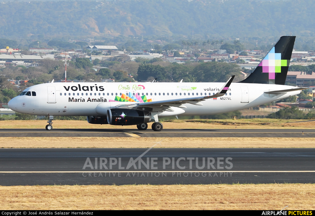 Volaris Costa Rica N527VL aircraft at San Jose - Juan Santamaría Intl