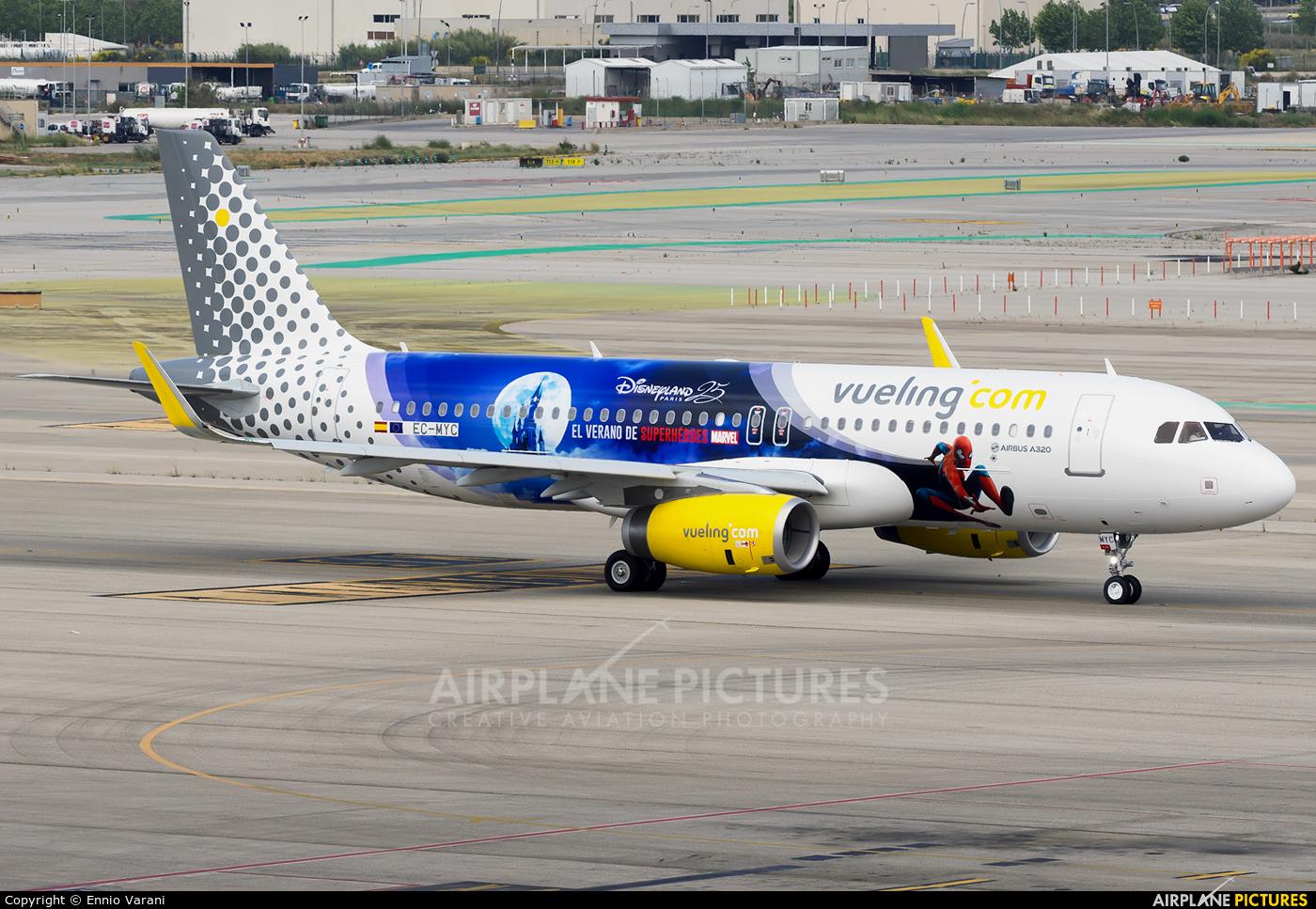 Vueling Airlines EC-MYC aircraft at Barcelona - El Prat