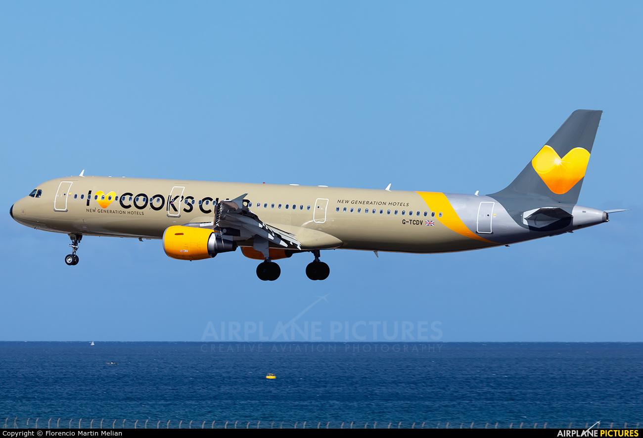 Thomas Cook G-TCDV aircraft at Lanzarote - Arrecife