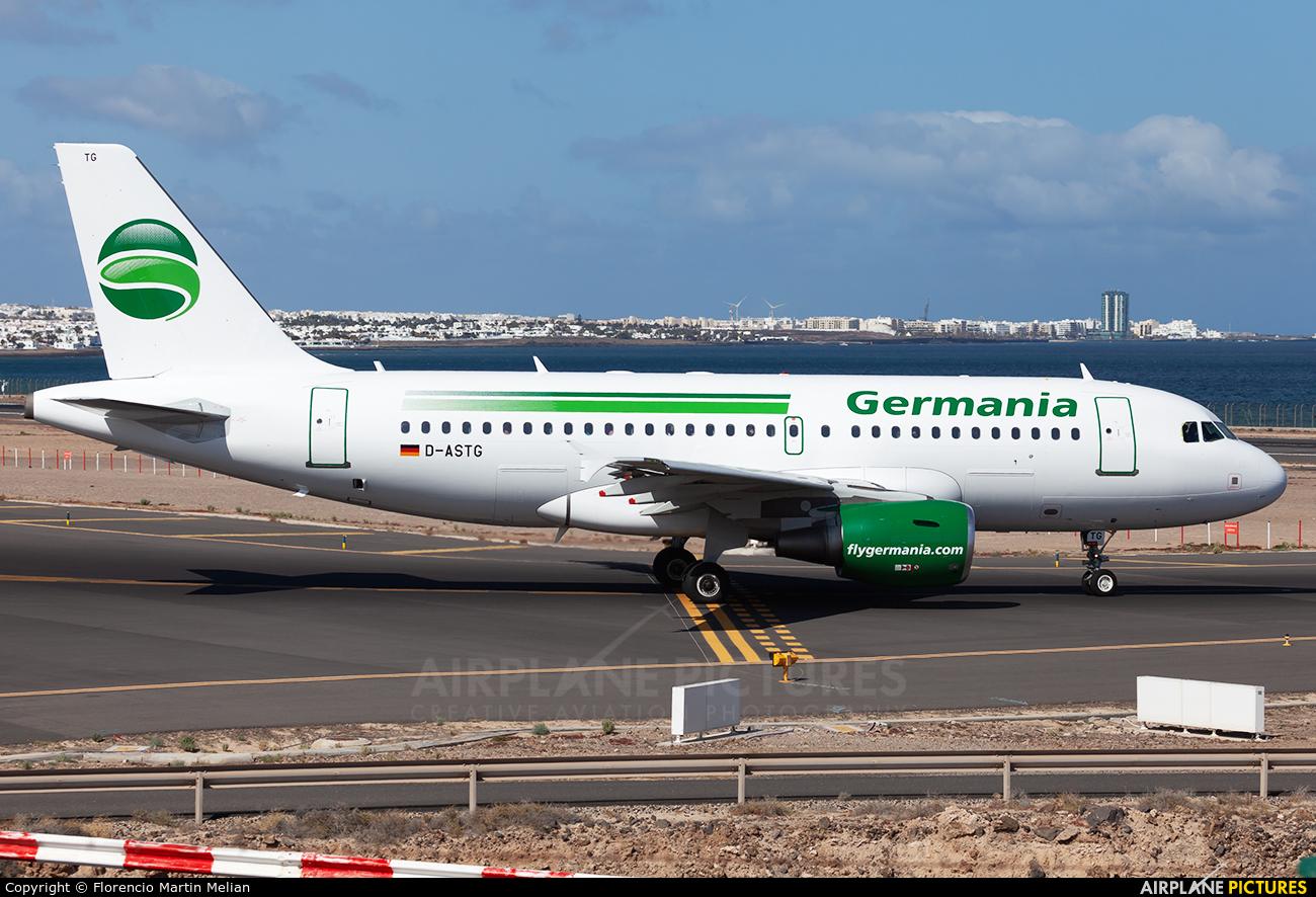 Germania D-ASTG aircraft at Lanzarote - Arrecife