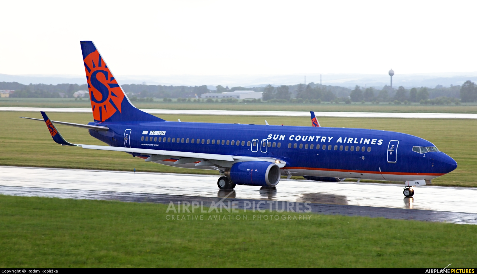 Sun Country Airlines TC-JGN aircraft at Ostrava Mošnov