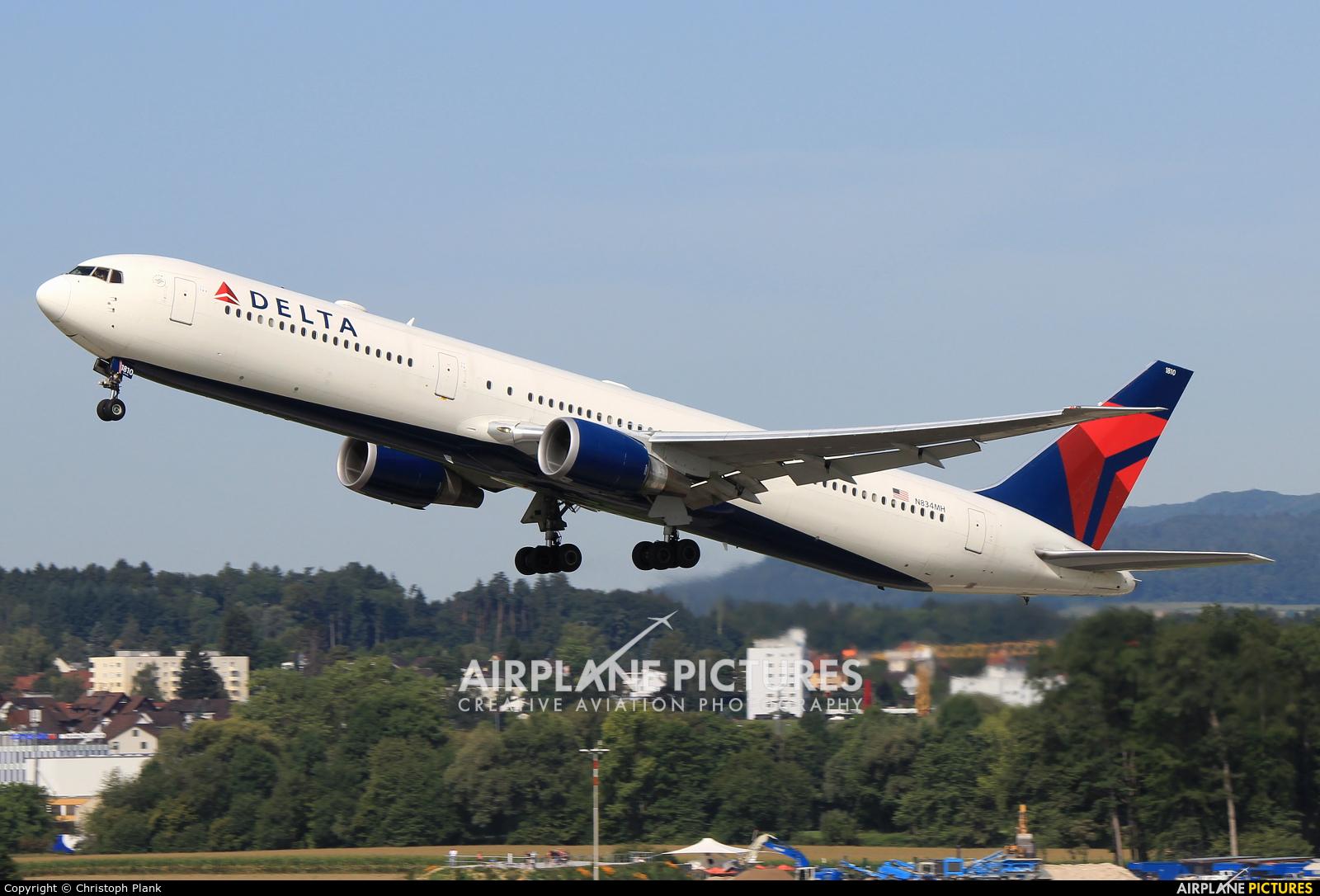 Delta Air Lines N834MH aircraft at Zurich