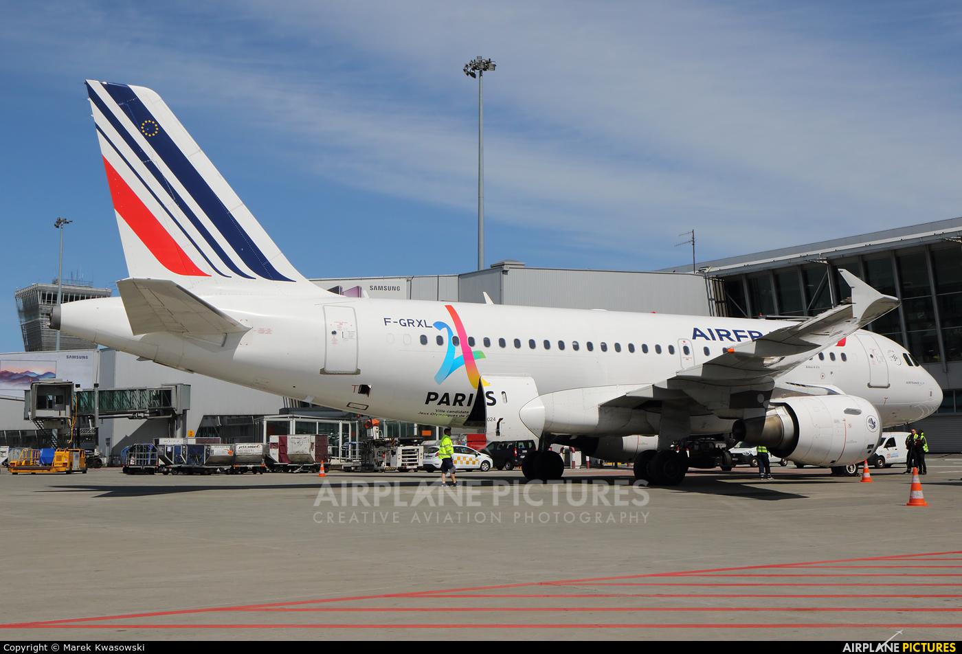 Air France F-GRXL aircraft at Warsaw - Frederic Chopin