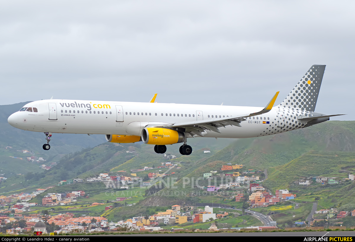Vueling Airlines EC-MGY aircraft at Tenerife Norte - Los Rodeos