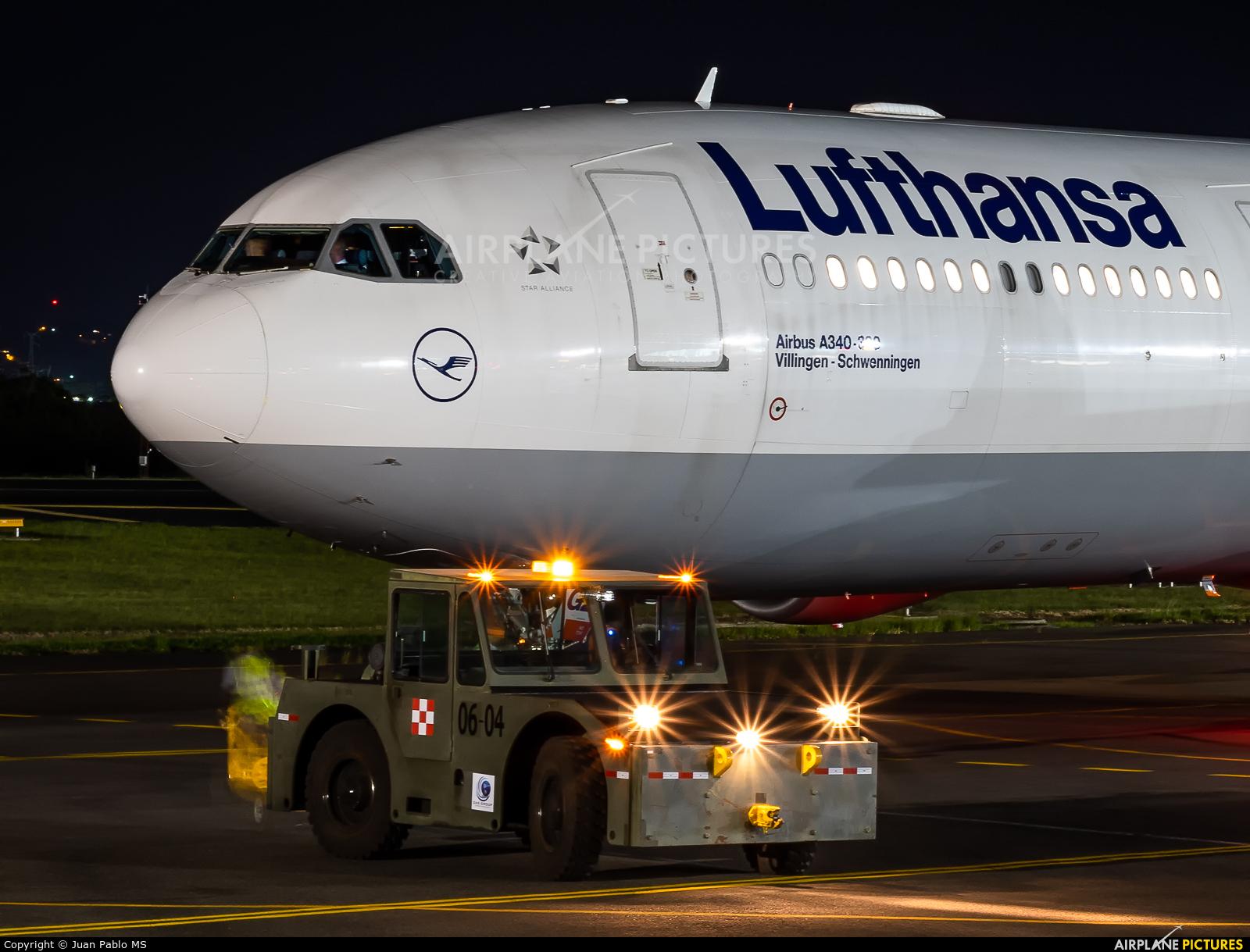 Lufthansa D-AIGZ aircraft at San Jose - Juan Santamaría Intl