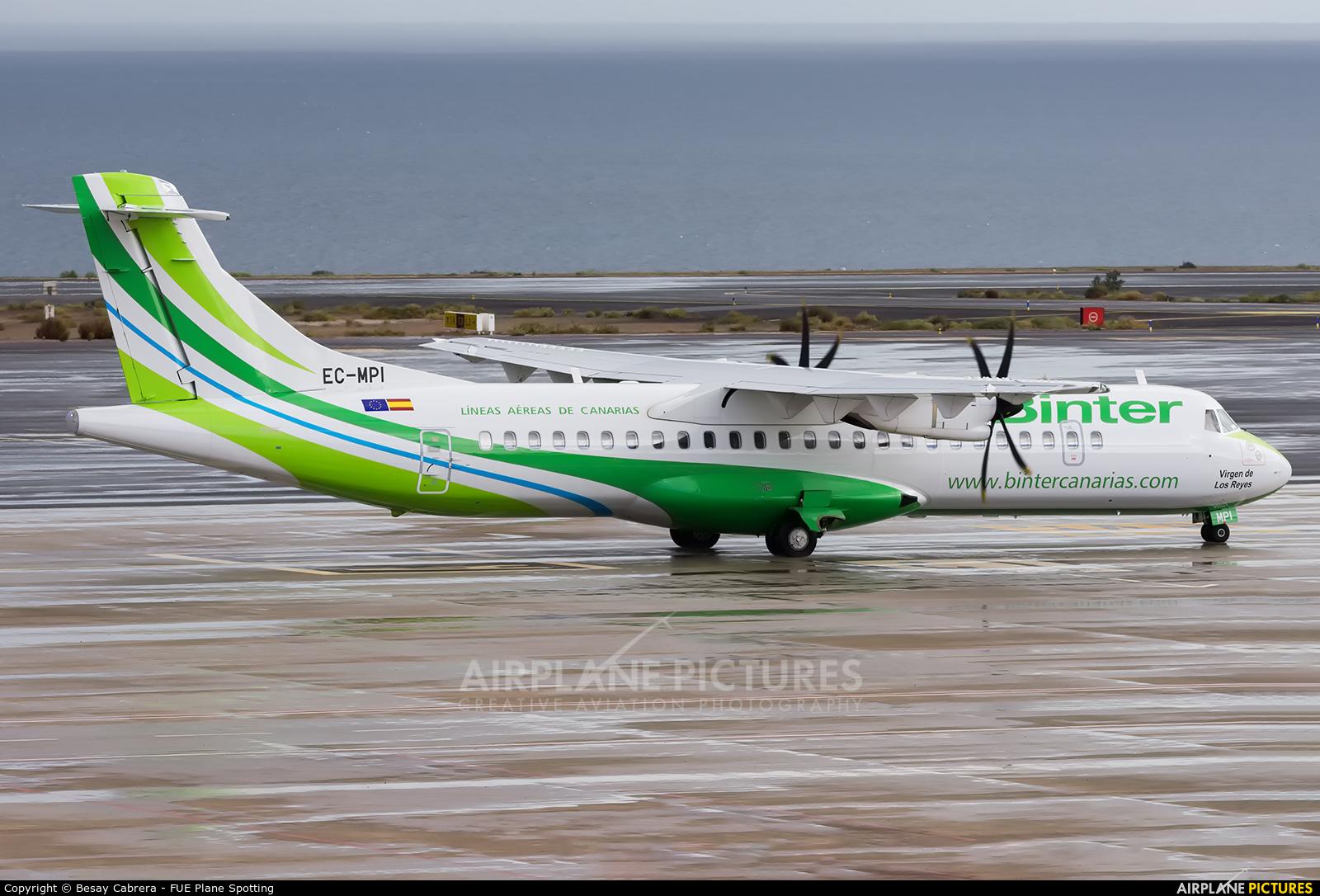 Binter Canarias EC-MPI aircraft at Fuerteventura - Puerto del Rosario