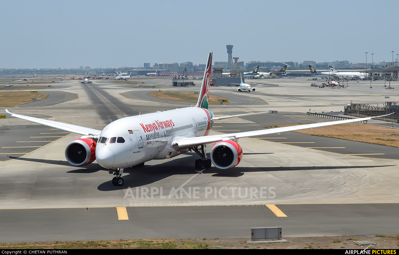 Kenya Airways 5Y-KZC aircraft at Mumbai - Chhatrapati Shivaji Intl