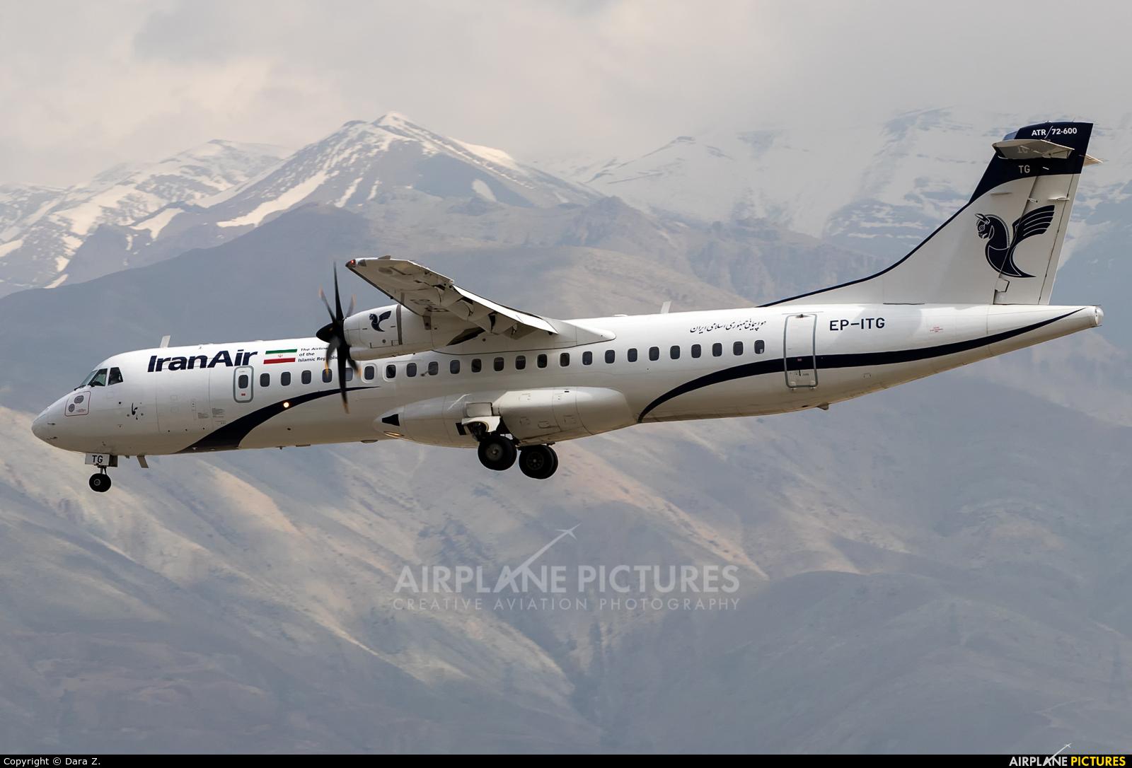 Iran Air EP-ITG aircraft at Tehran - Mehrabad Intl