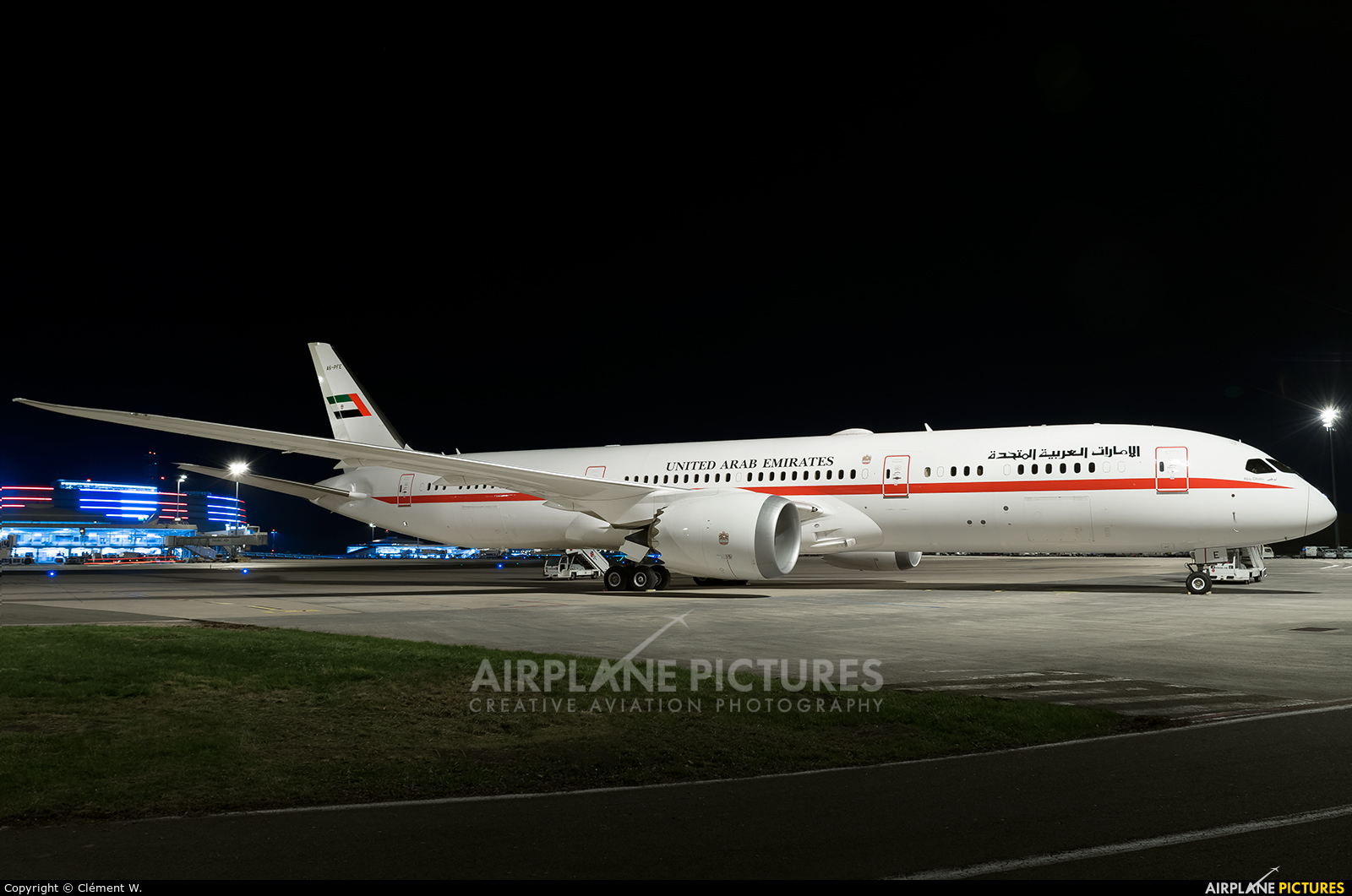Abu Dhabi Amiri Flight A6-PFE aircraft at Paris - Charles de Gaulle
