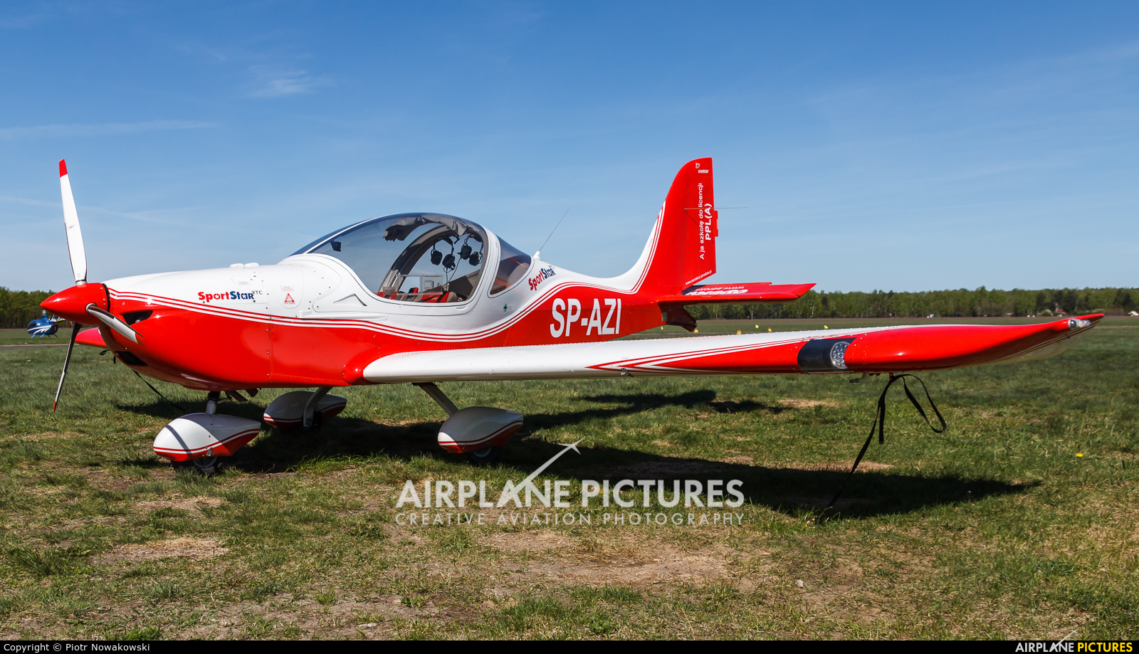 Aeroklub Ziemi Jarosławskiej SP-AZI aircraft at Warsaw - Babice