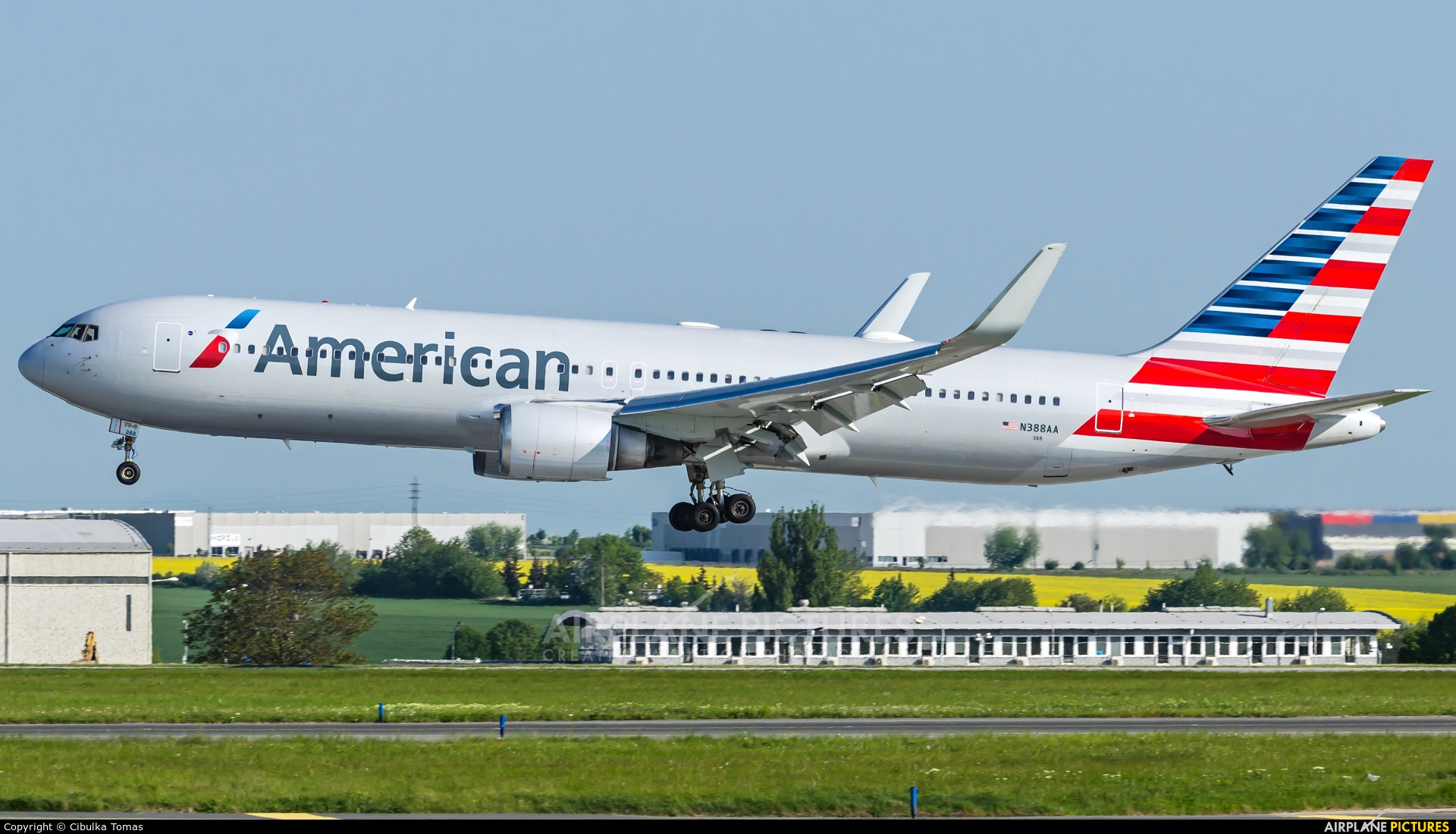 American Airlines N388AA aircraft at Prague - Václav Havel
