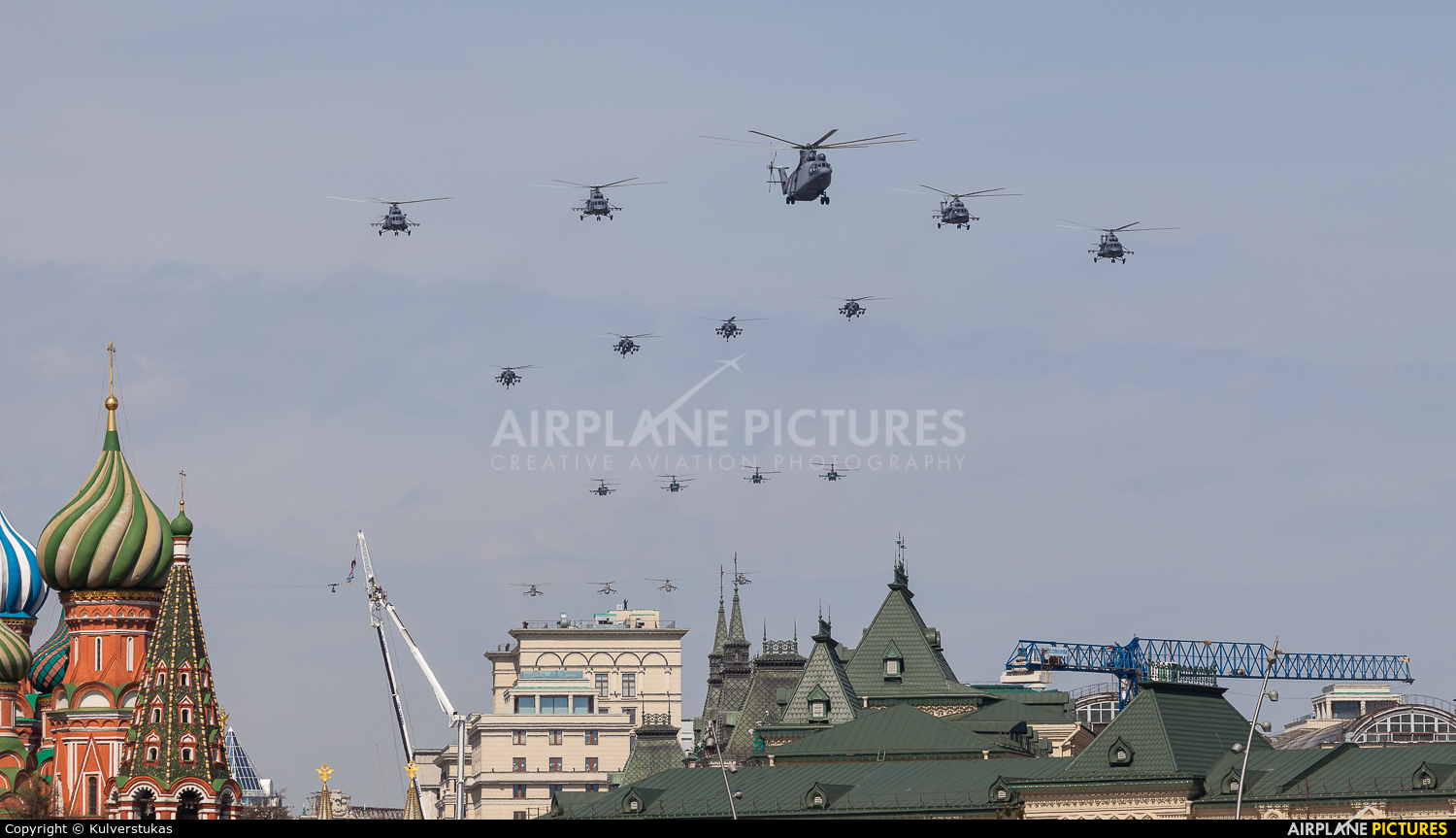 Russia - Air Force 06 aircraft at Moscow, Red Square