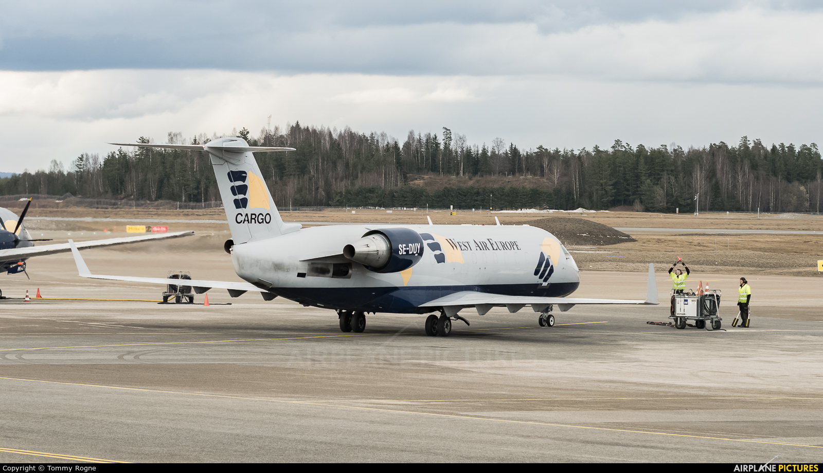 West Air Sweden SE-DUY aircraft at Oslo - Gardermoen