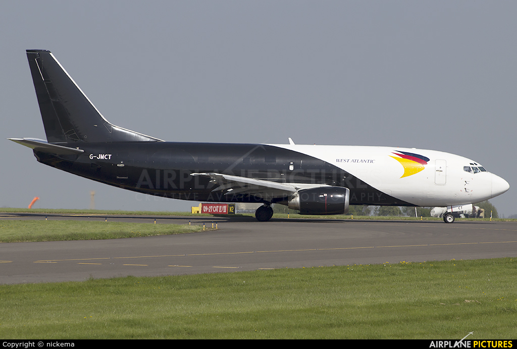 West Atlantic G-JMCT aircraft at East Midlands
