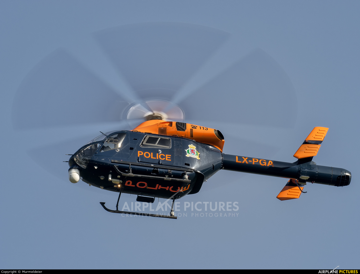 Luxembourg - Police LX-PGA aircraft at Luxembourg - Findel