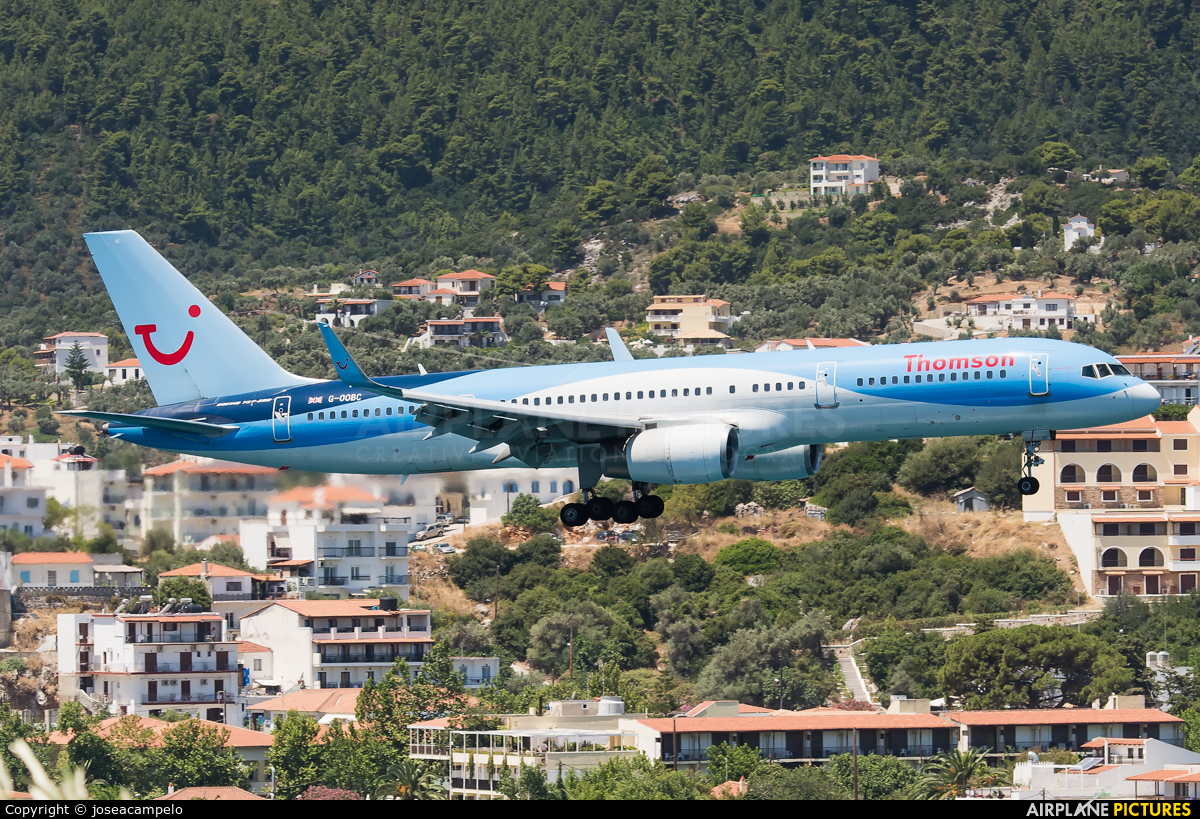 Thomson/Thomsonfly G-OOBC aircraft at Skiathos