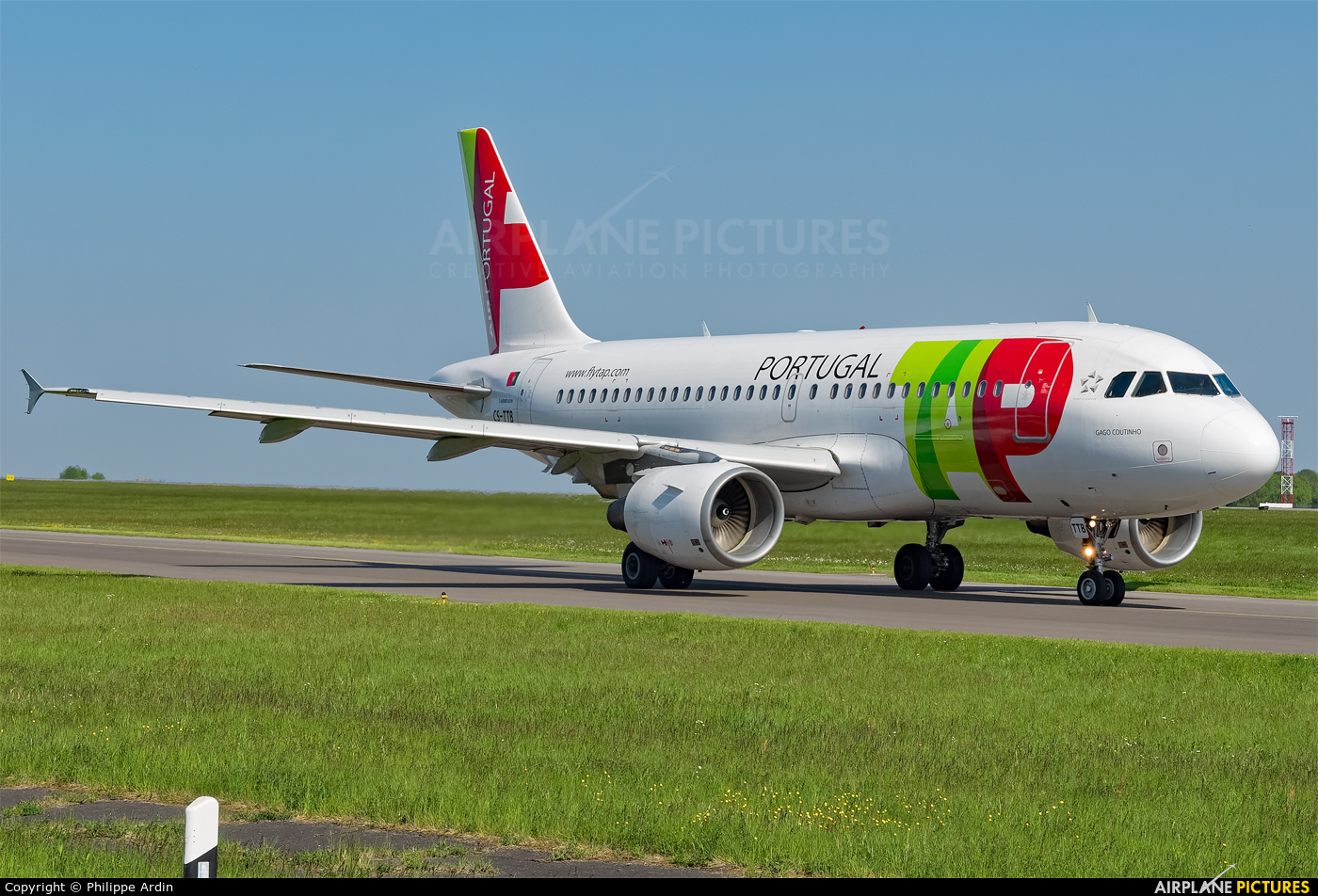 TAP Portugal CS-TTB aircraft at Luxembourg - Findel