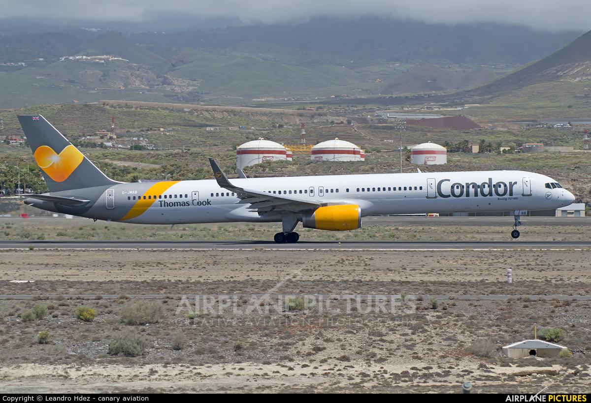 Condor G-JMAB aircraft at Tenerife Sur - Reina Sofia