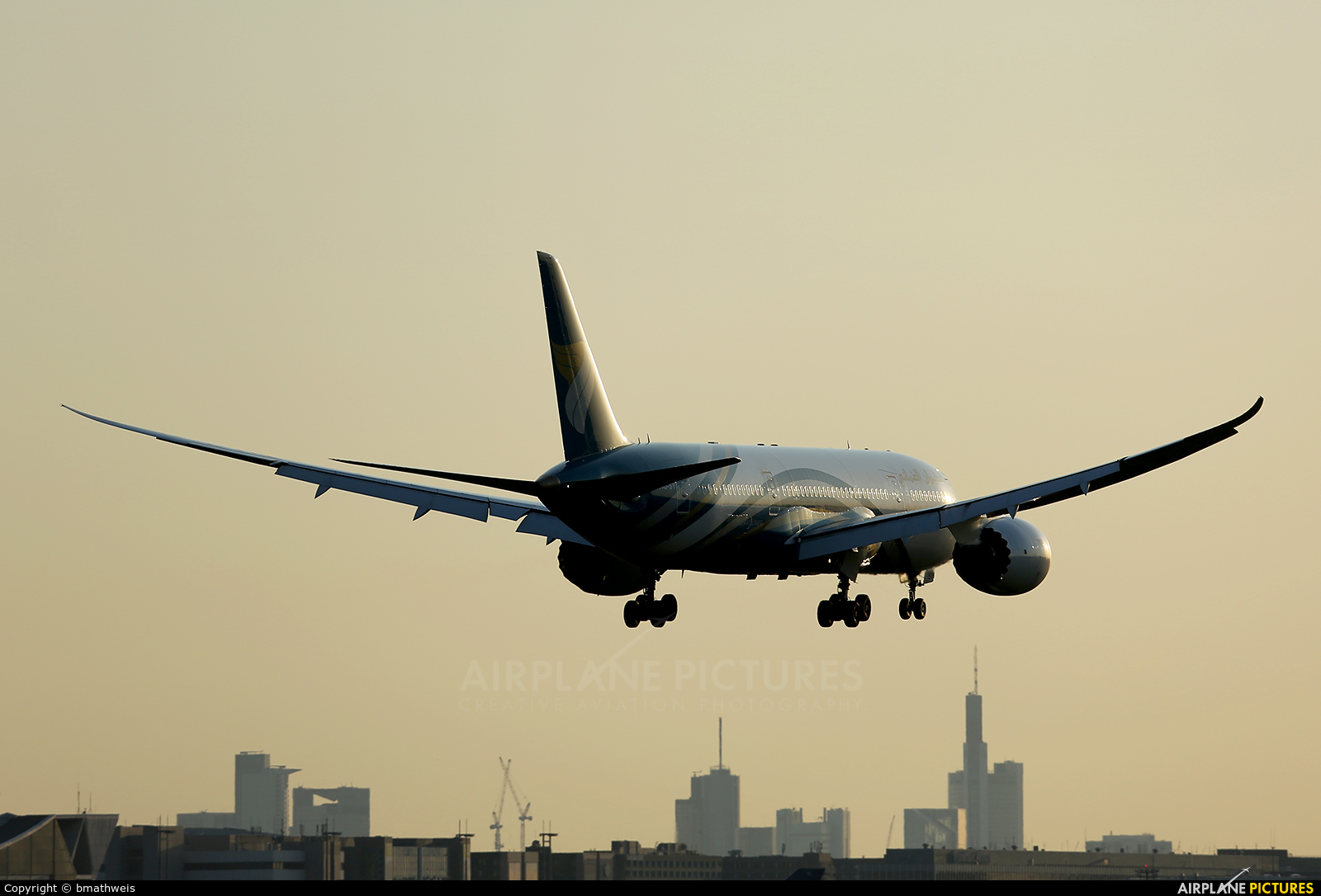 Oman Air A4O-SY aircraft at Frankfurt