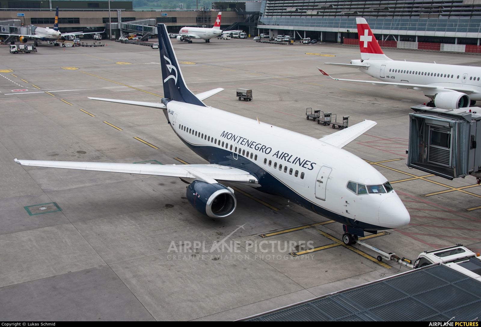 Montenegro Airlines 9H-OME aircraft at Zurich