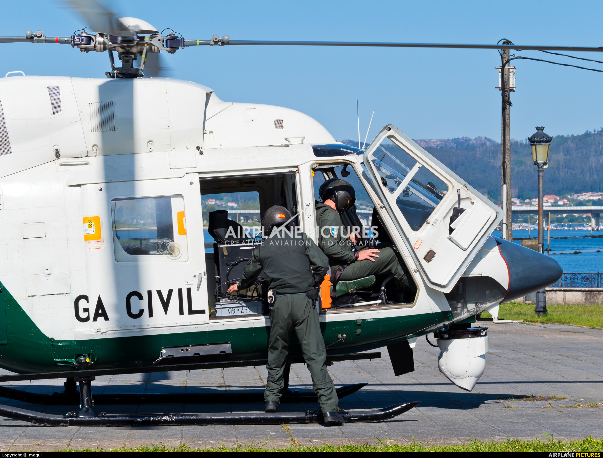 Spain - Guardia Civil HU.22-04 aircraft at La Coruña - Off Airport