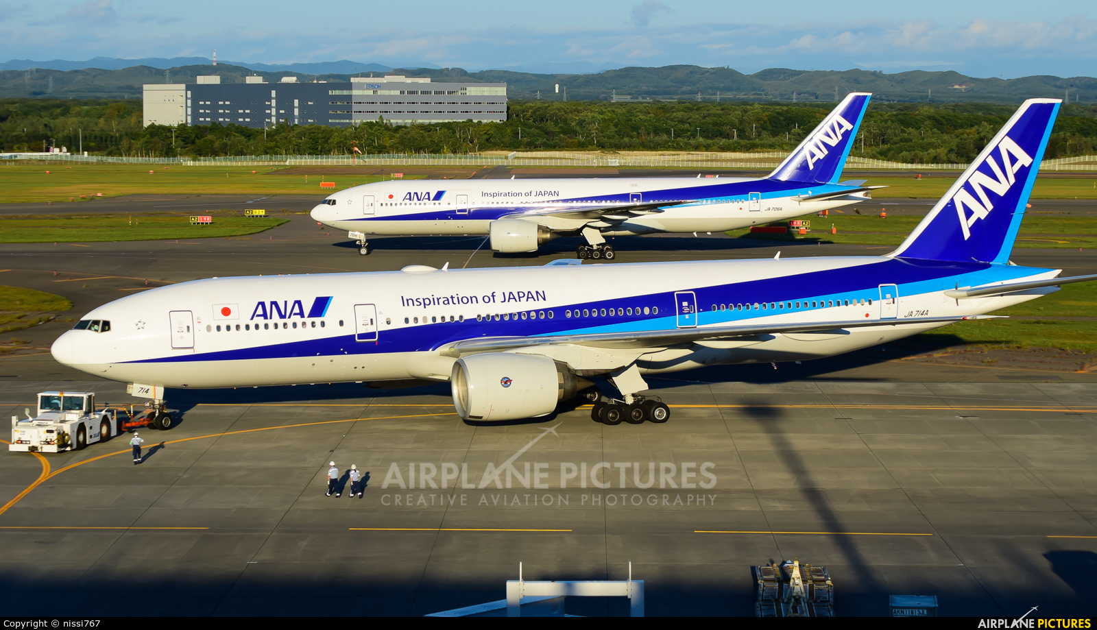 ANA - All Nippon Airways JA714A aircraft at New Chitose
