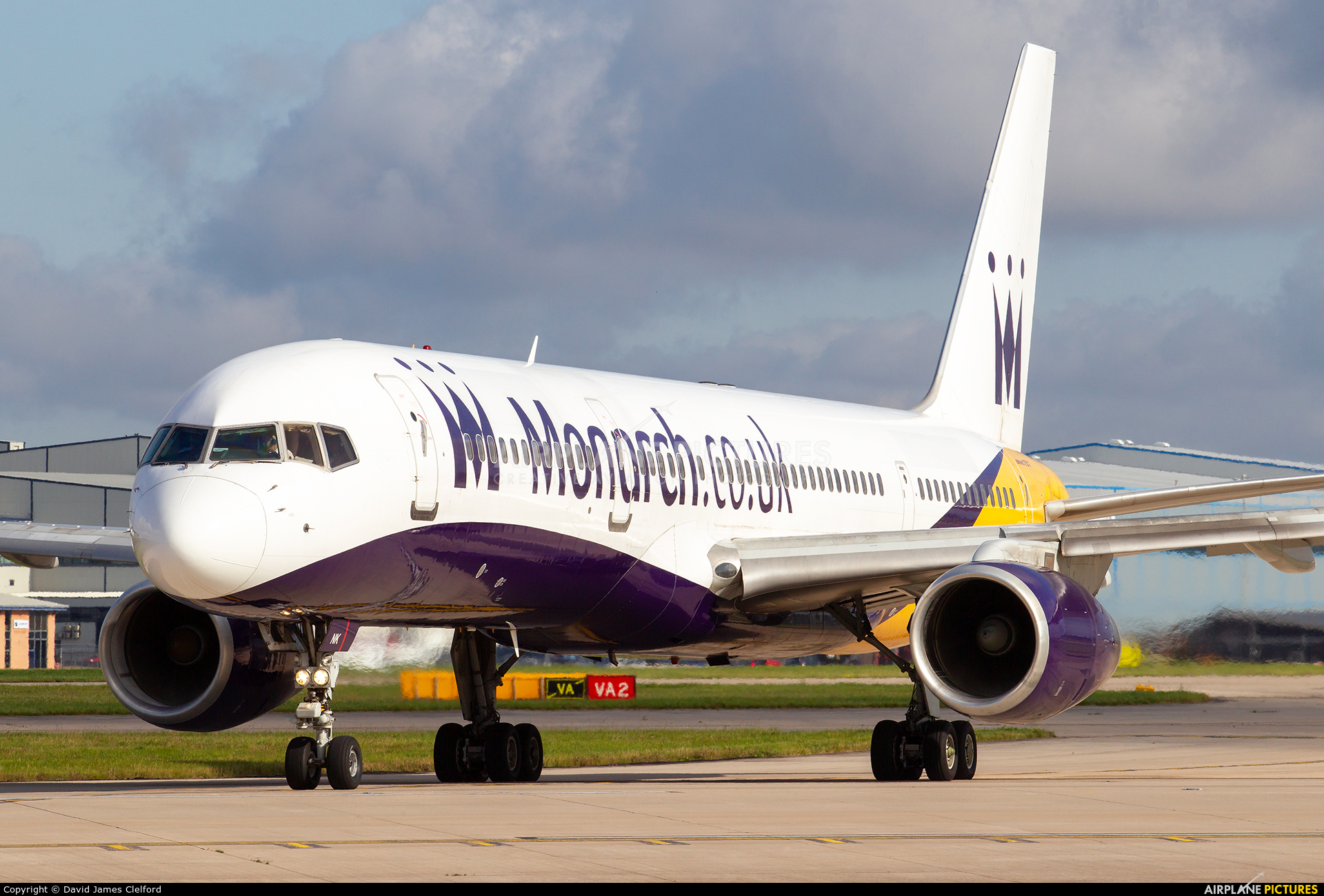 Monarch Airlines G-MONK aircraft at Manchester