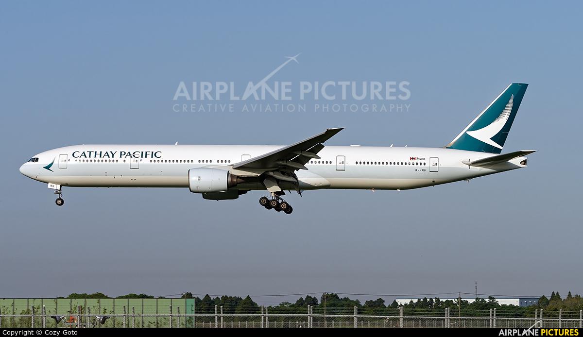 Cathay Pacific B-HNG aircraft at Tokyo - Narita Intl
