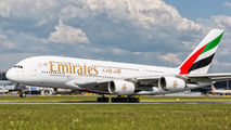 A6-EOE - Emirates Airlines Airbus A380 aircraft