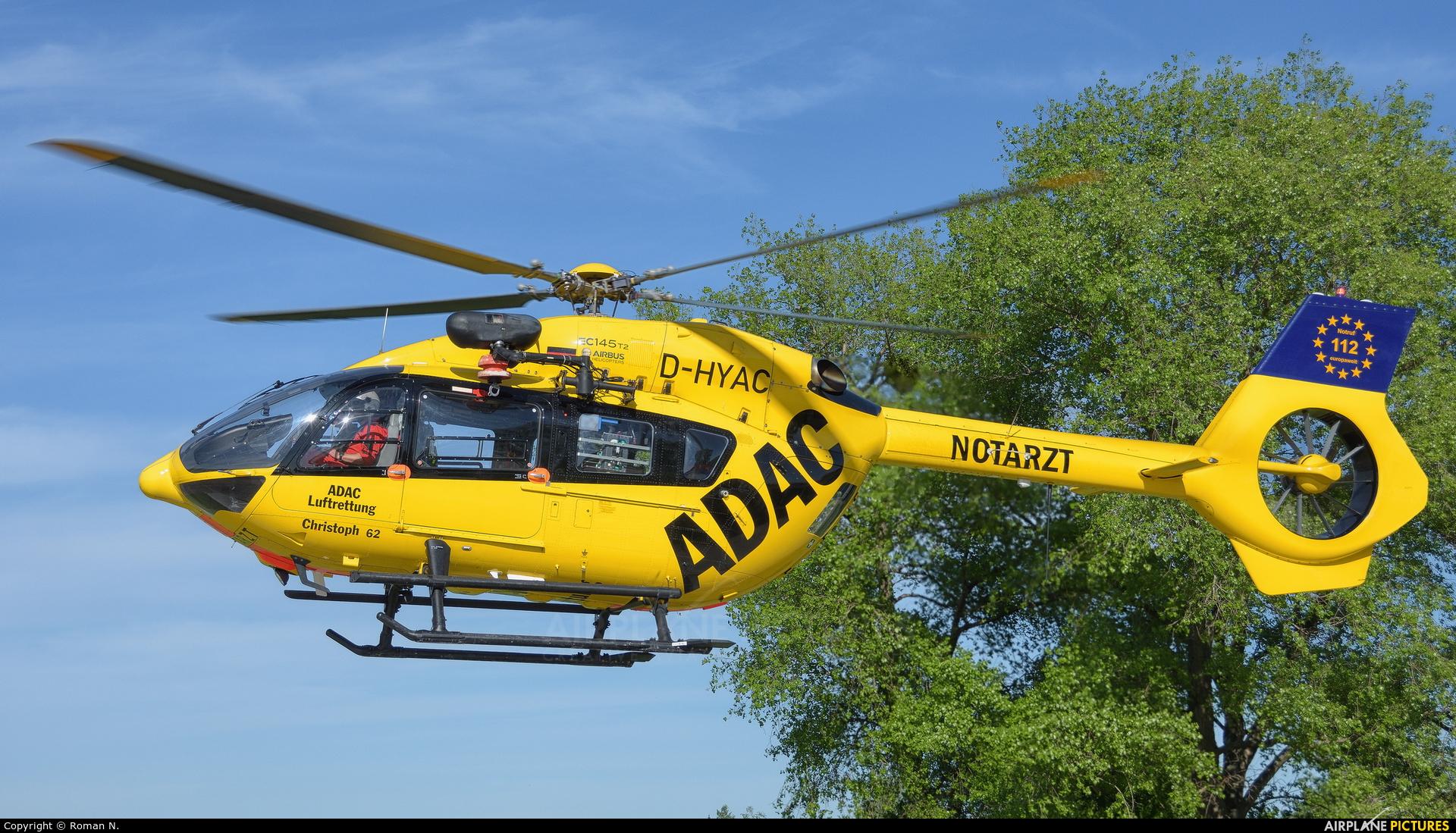 ADAC Luftrettung D-HYAC aircraft at Bautzen
