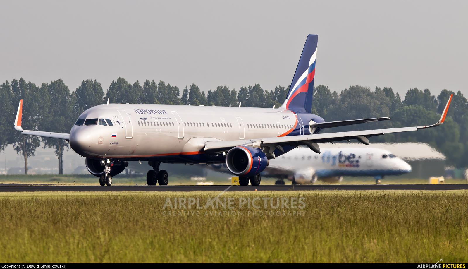 Aeroflot VP-BFK aircraft at Amsterdam - Schiphol