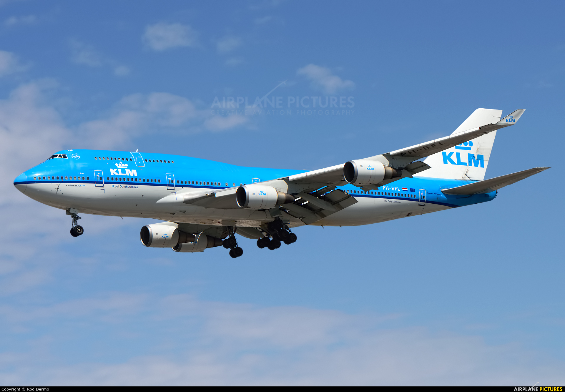 KLM PH-BFL aircraft at Toronto - Pearson Intl, ON