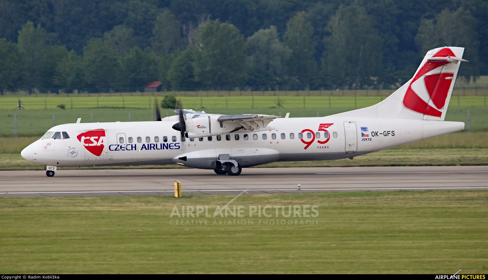 CSA - Czech Airlines OK-GFS aircraft at Ostrava Mošnov