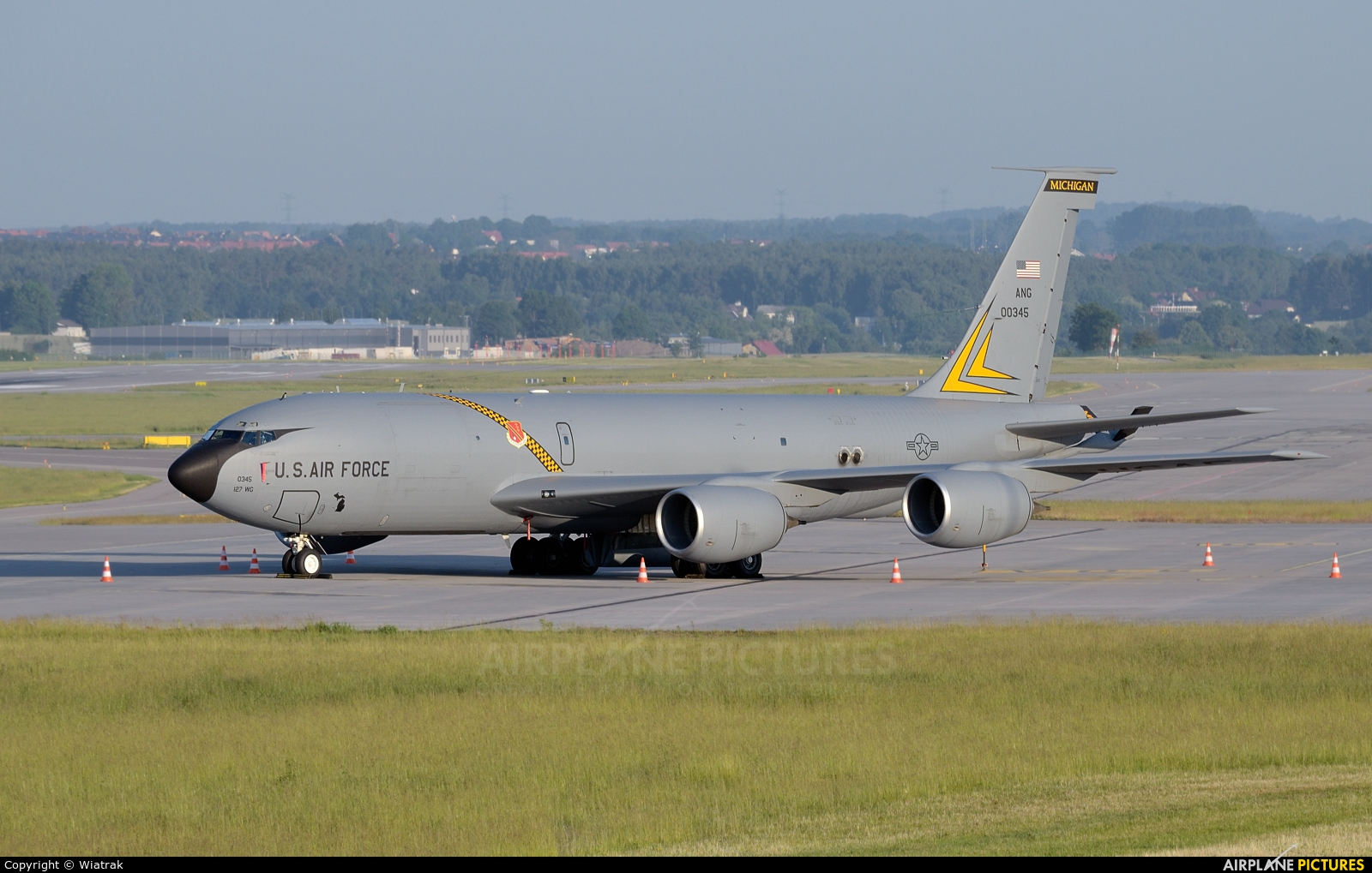 USA - Air National Guard 60-0345 aircraft at Gdańsk - Lech Wałęsa