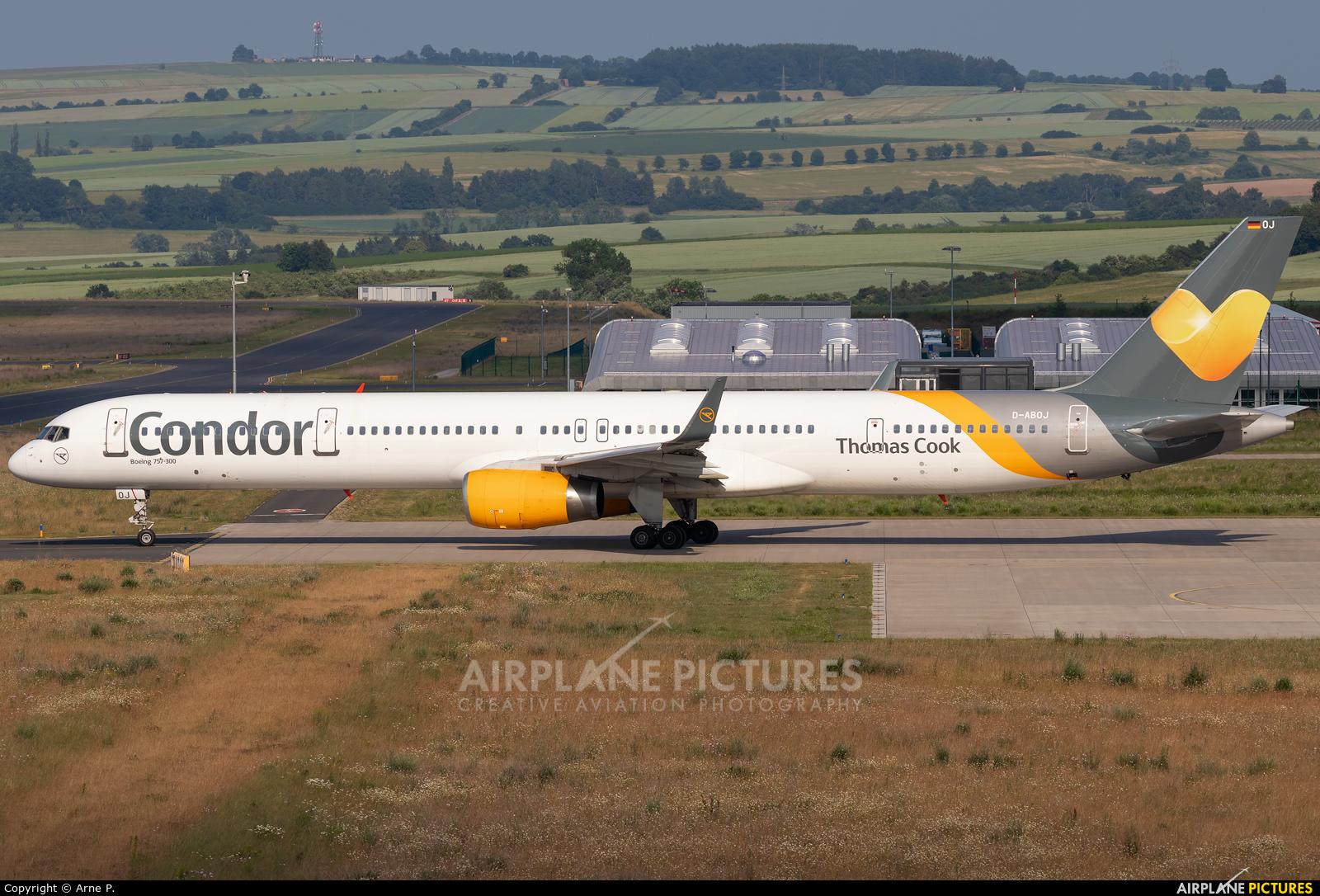 Condor D-ABOJ aircraft at Kassel-Calden