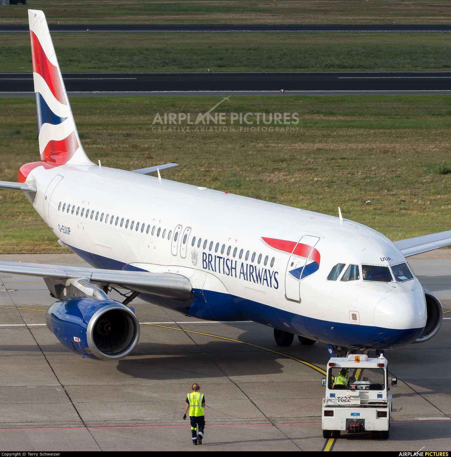 British Airways G-EUUP aircraft at Berlin - Tegel