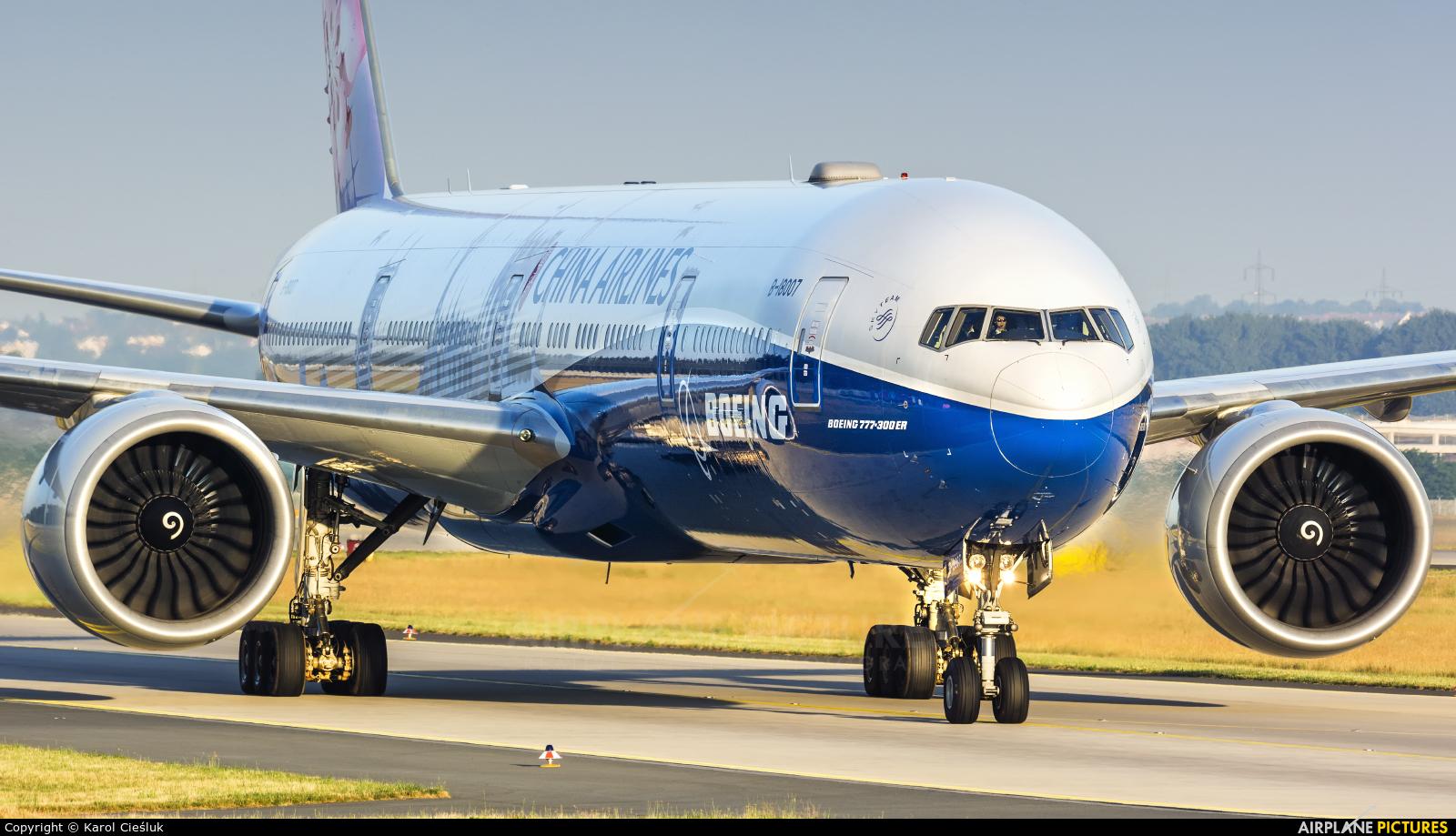China Airlines B-18007 aircraft at Frankfurt