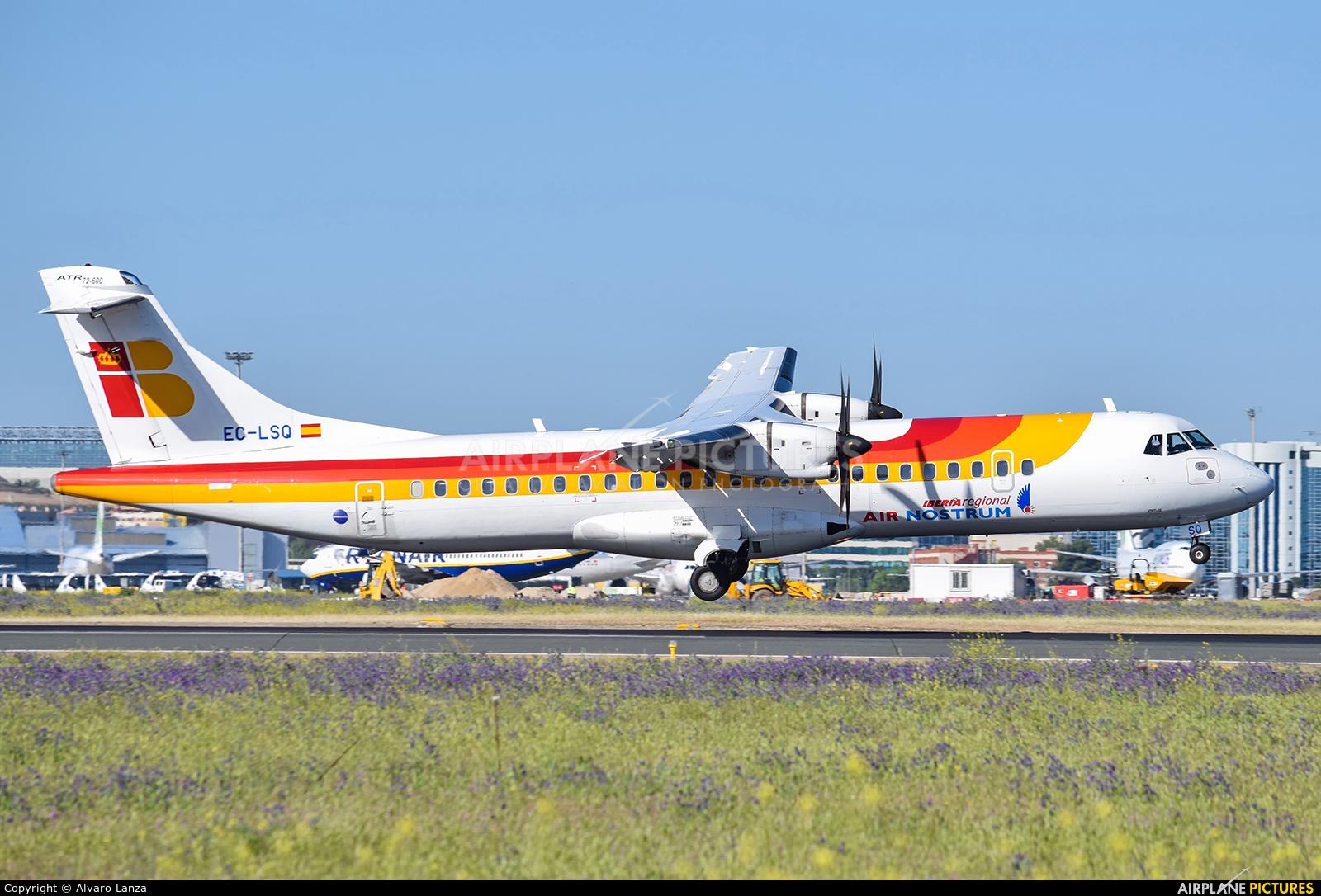 Air Nostrum - Iberia Regional EC-LSQ aircraft at Madrid - Barajas