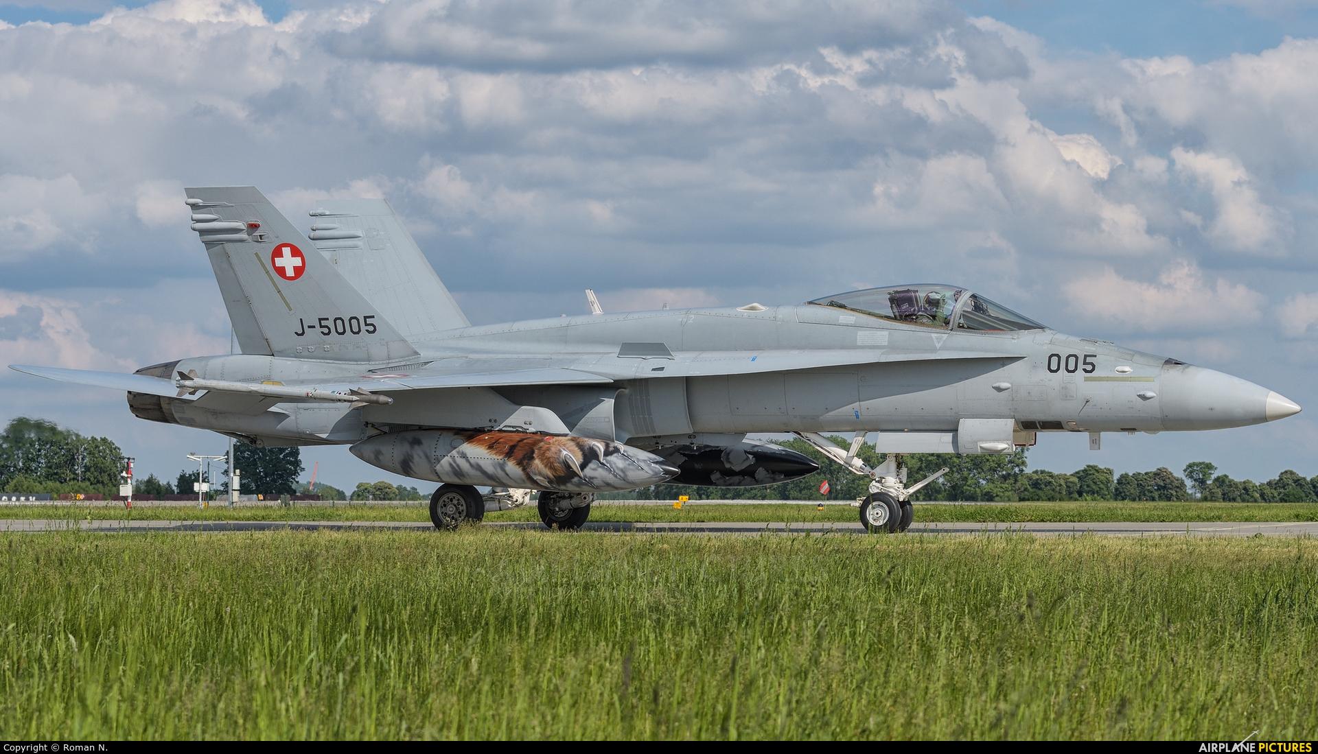Switzerland - Air Force J-5005 aircraft at Poznań - Krzesiny