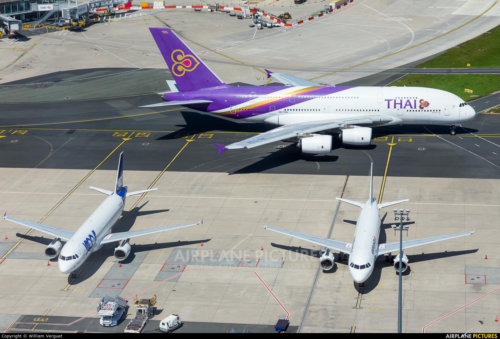 Thai Airways HS-TUA aircraft at Paris - Charles de Gaulle