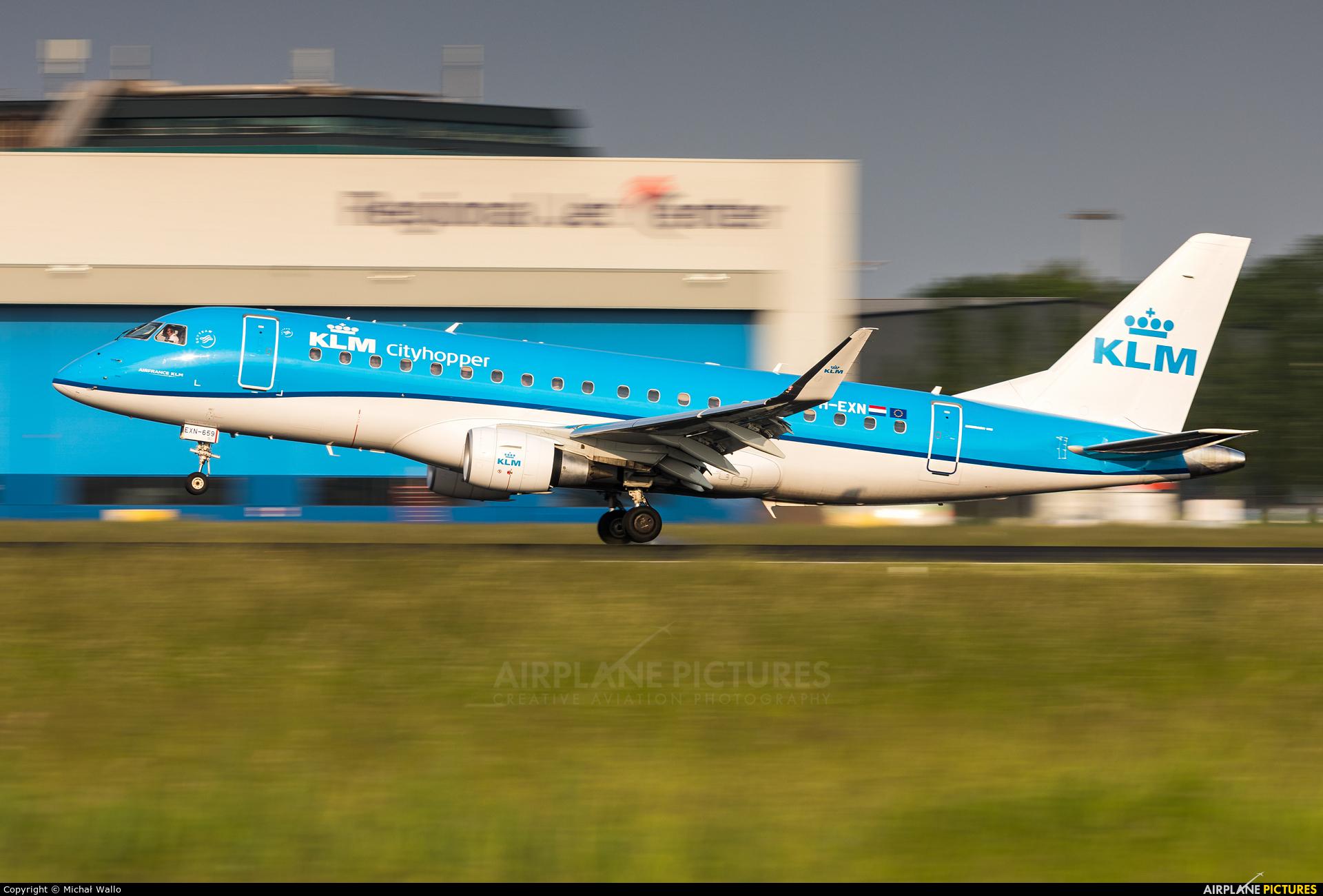 KLM Cityhopper PH-EXN aircraft at Amsterdam - Schiphol