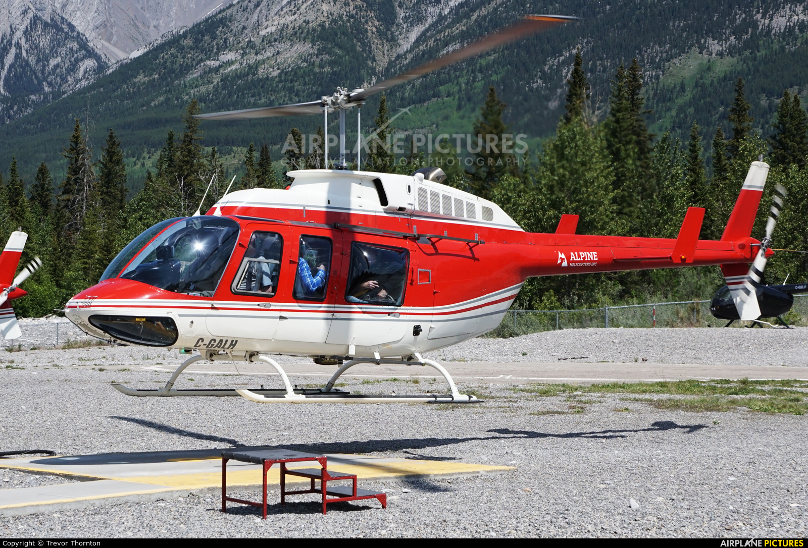 Alpine Helicopters Canada C-GALH aircraft at Canmore Municipal Heliport