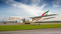 A6-EUJ - Emirates Airlines Airbus A380 aircraft