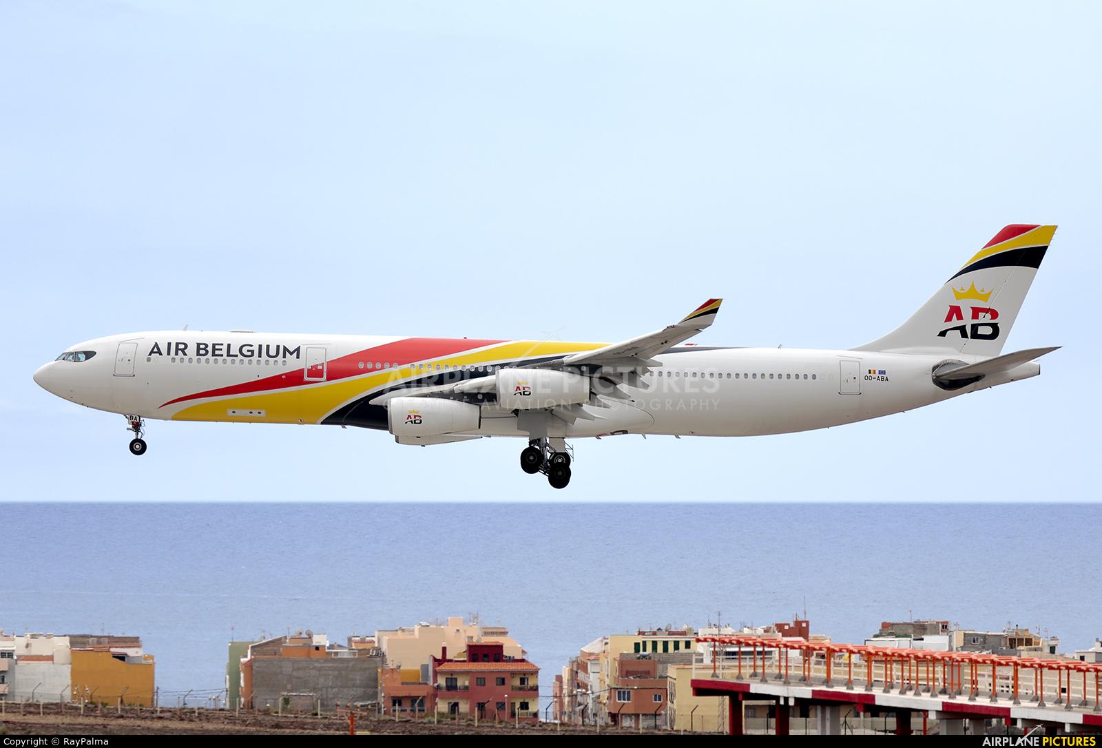 Air Belgium OO-ABA aircraft at Tenerife Sur - Reina Sofia