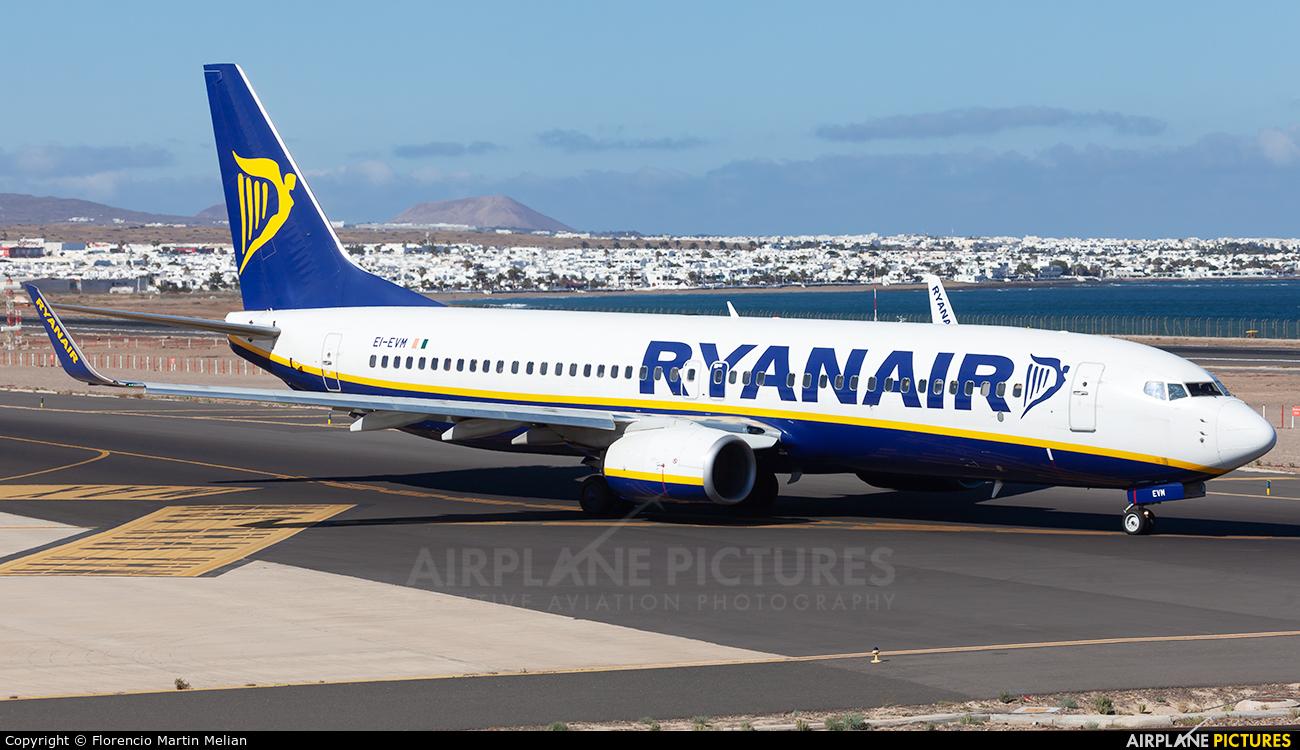 Ryanair EI-EVM aircraft at Lanzarote - Arrecife