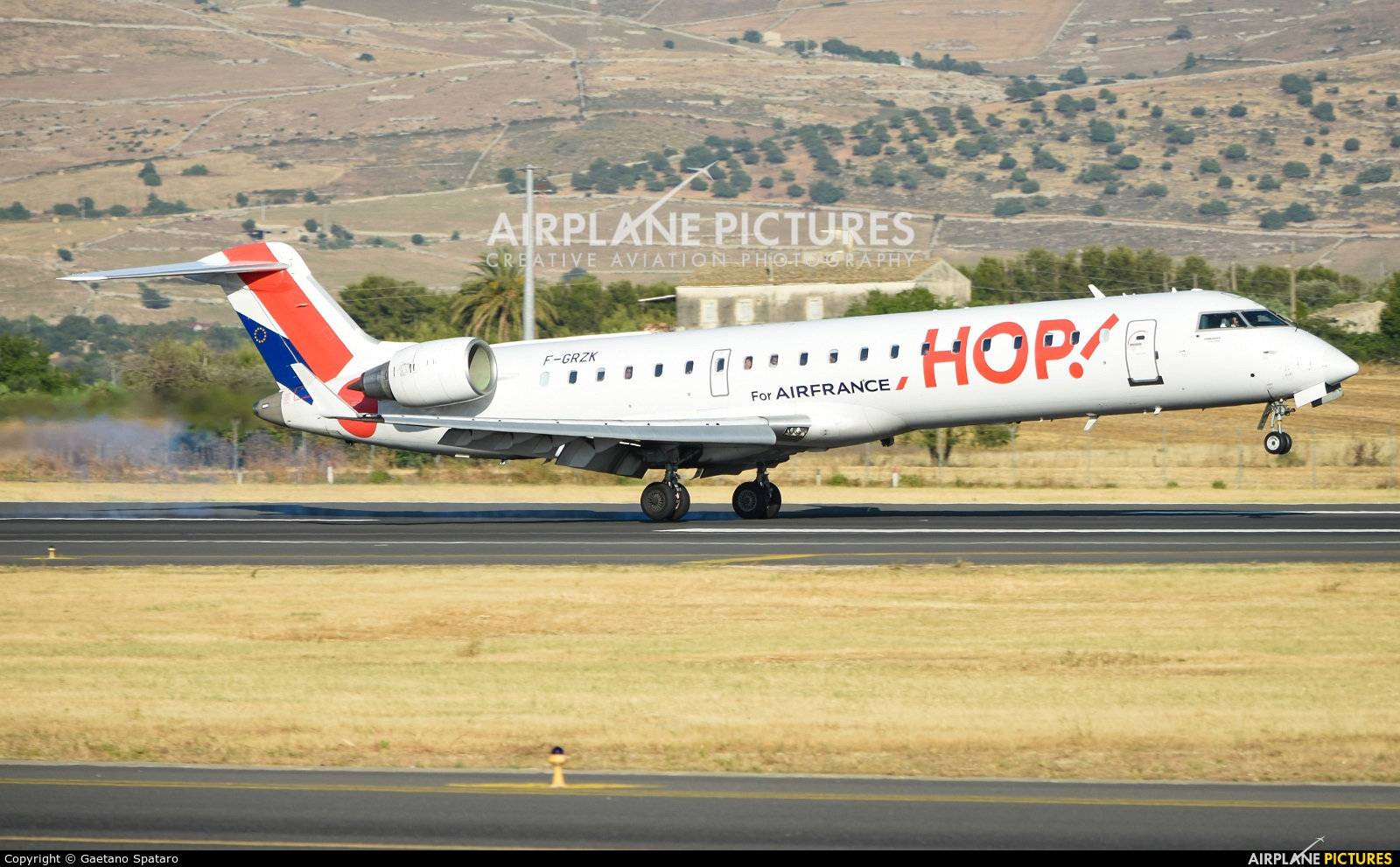 Air France - Hop! F-GRZK aircraft at Comiso - Sicily