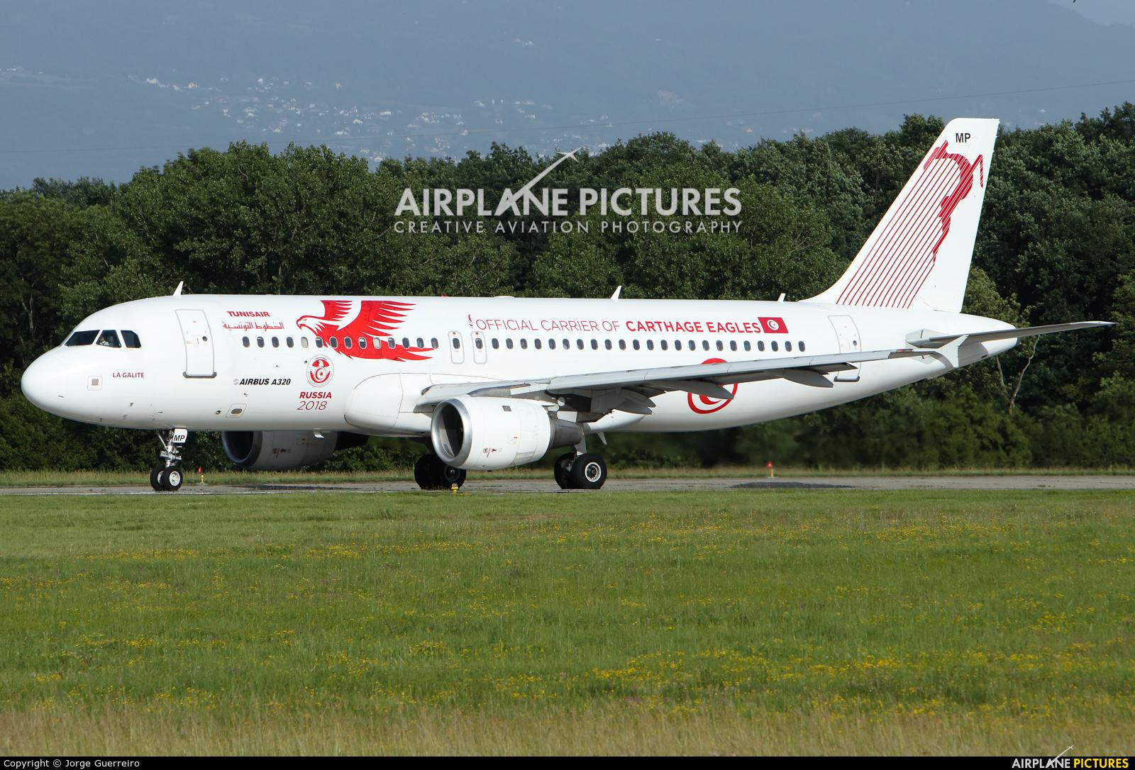 Tunisair TS-IMP aircraft at Geneva Intl