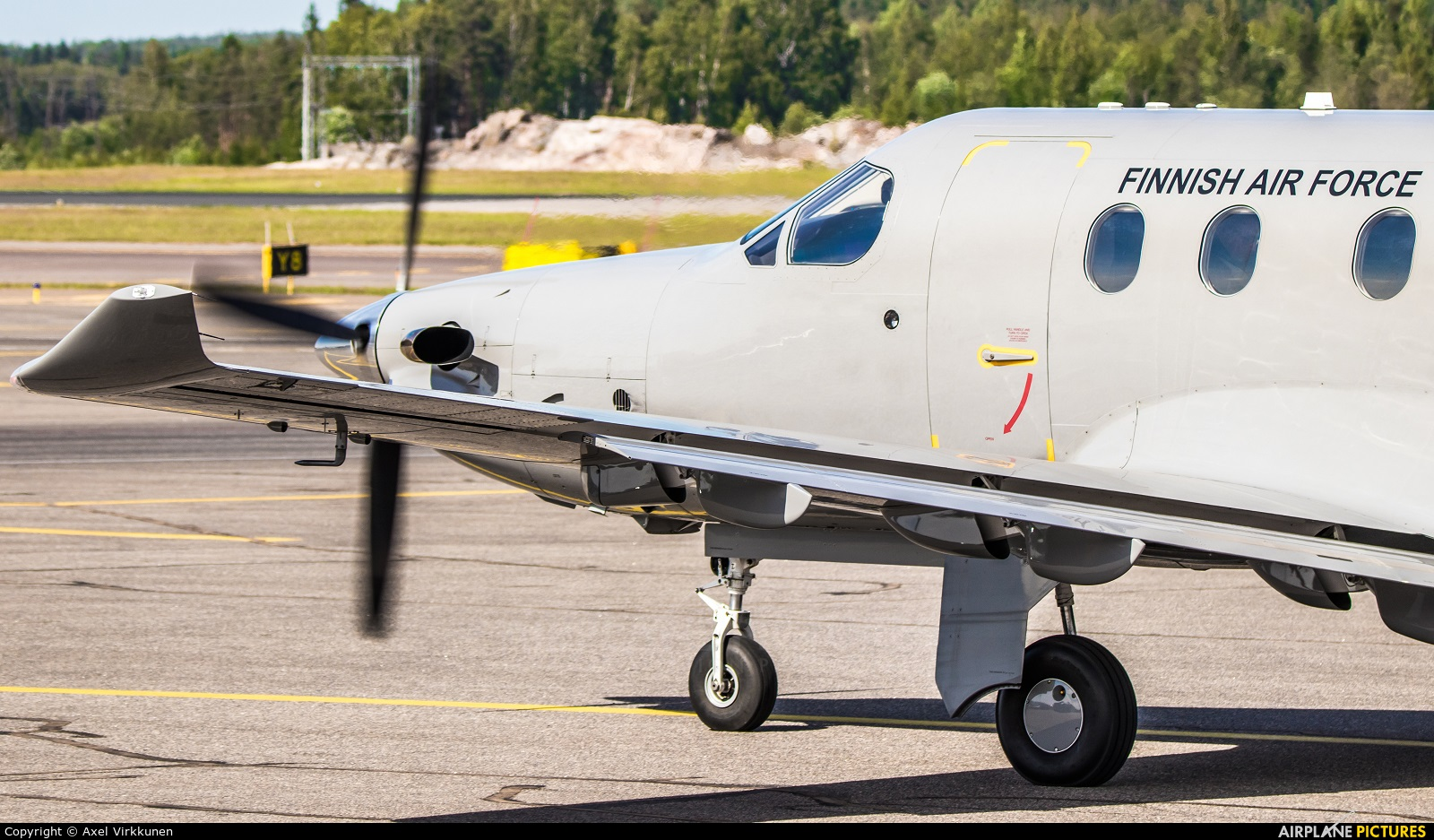 Finland - Air Force PI-01 aircraft at Helsinki - Vantaa