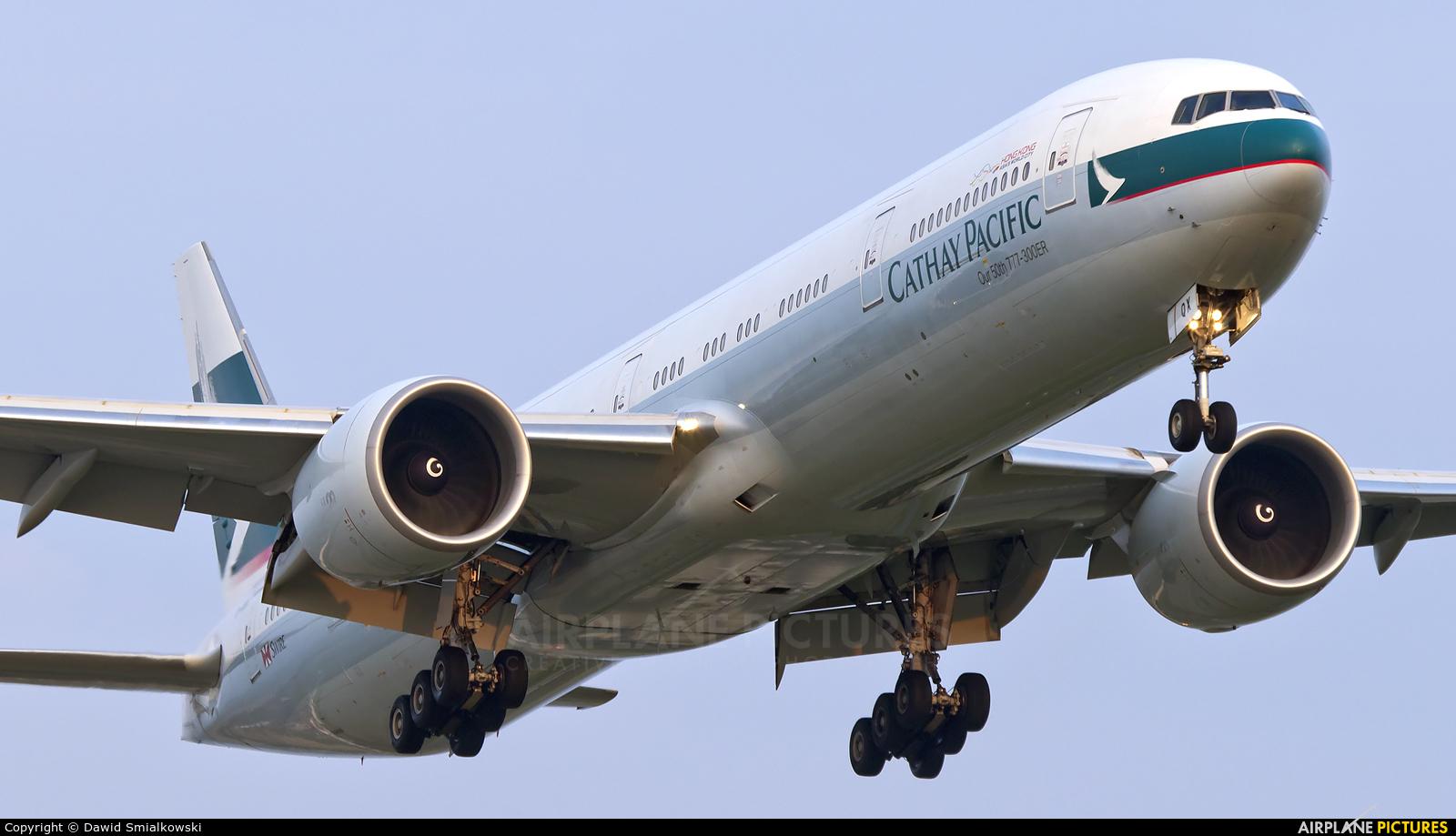 Cathay Pacific B-KQX aircraft at Amsterdam - Schiphol