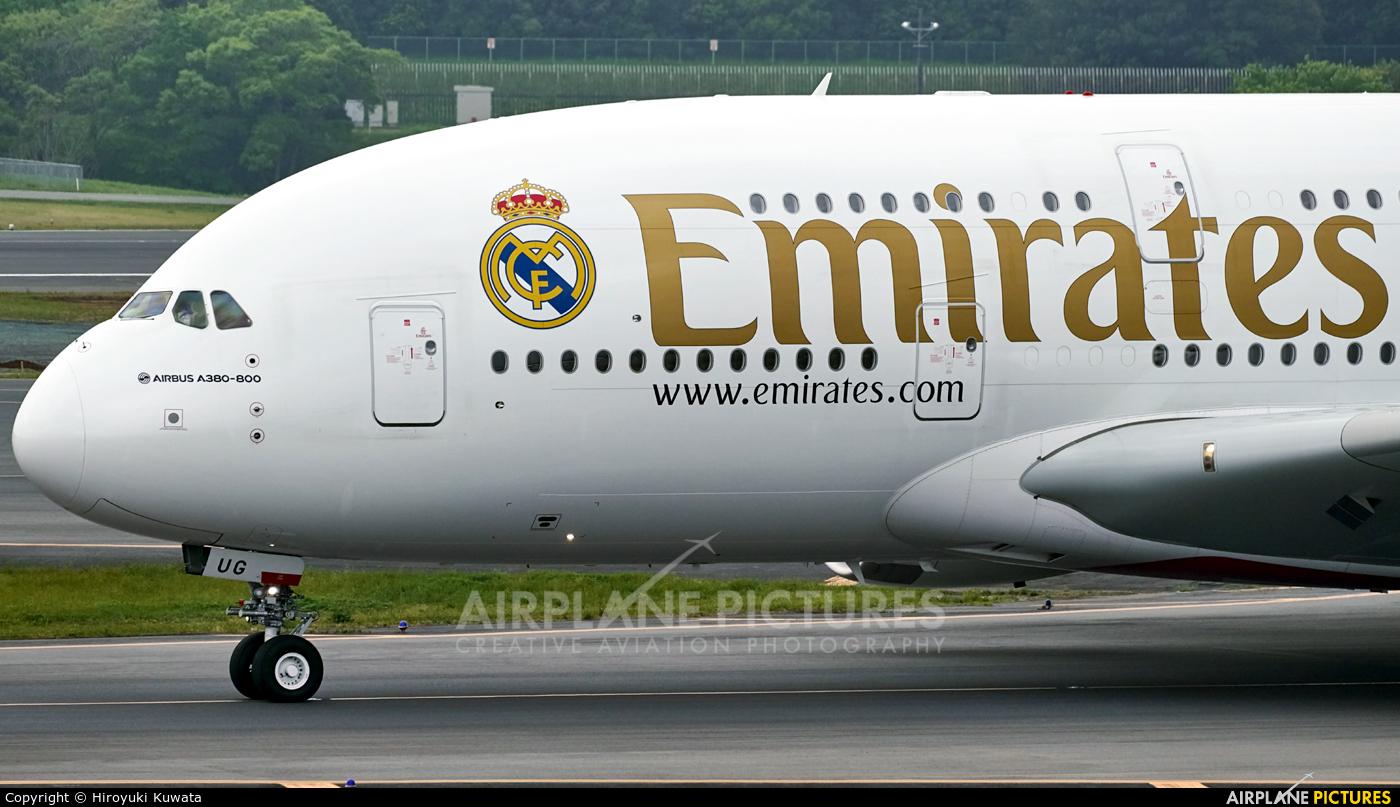 Emirates Airlines A6-EUG aircraft at Tokyo - Narita Intl